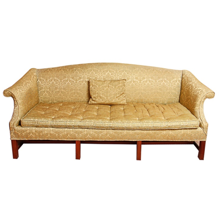 Vintage Chippendale Style Settee