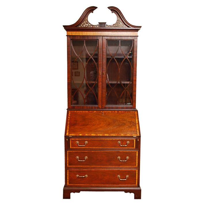 Baker George III Style Secretary Bookcase
