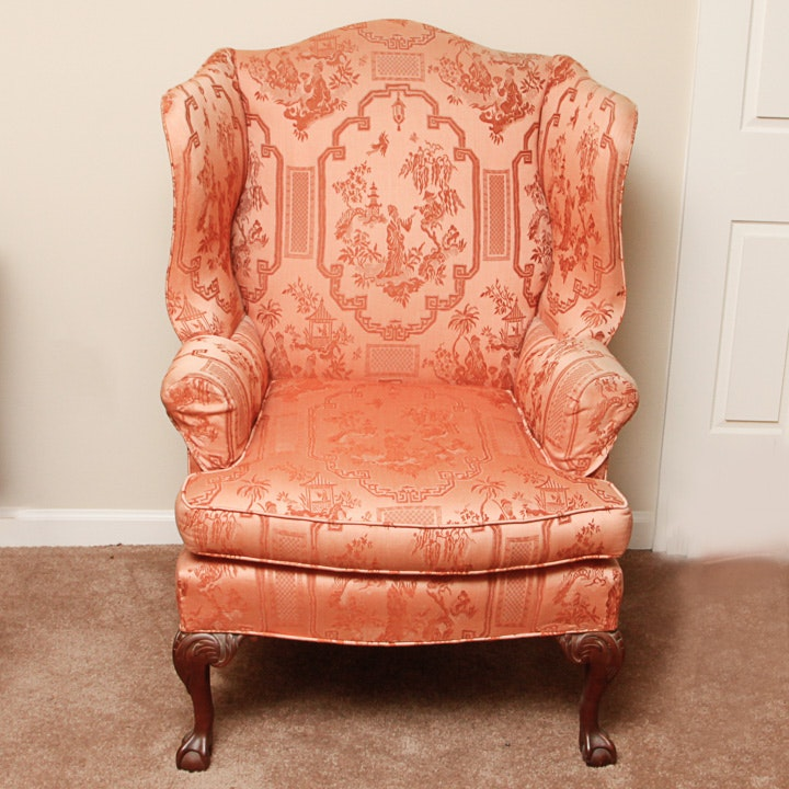Chippendale Style Wingback Chair by The Berkeley Upholstering Company