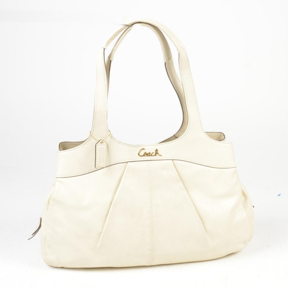 Coach Lexi Ivory Leather Shoulder Bag