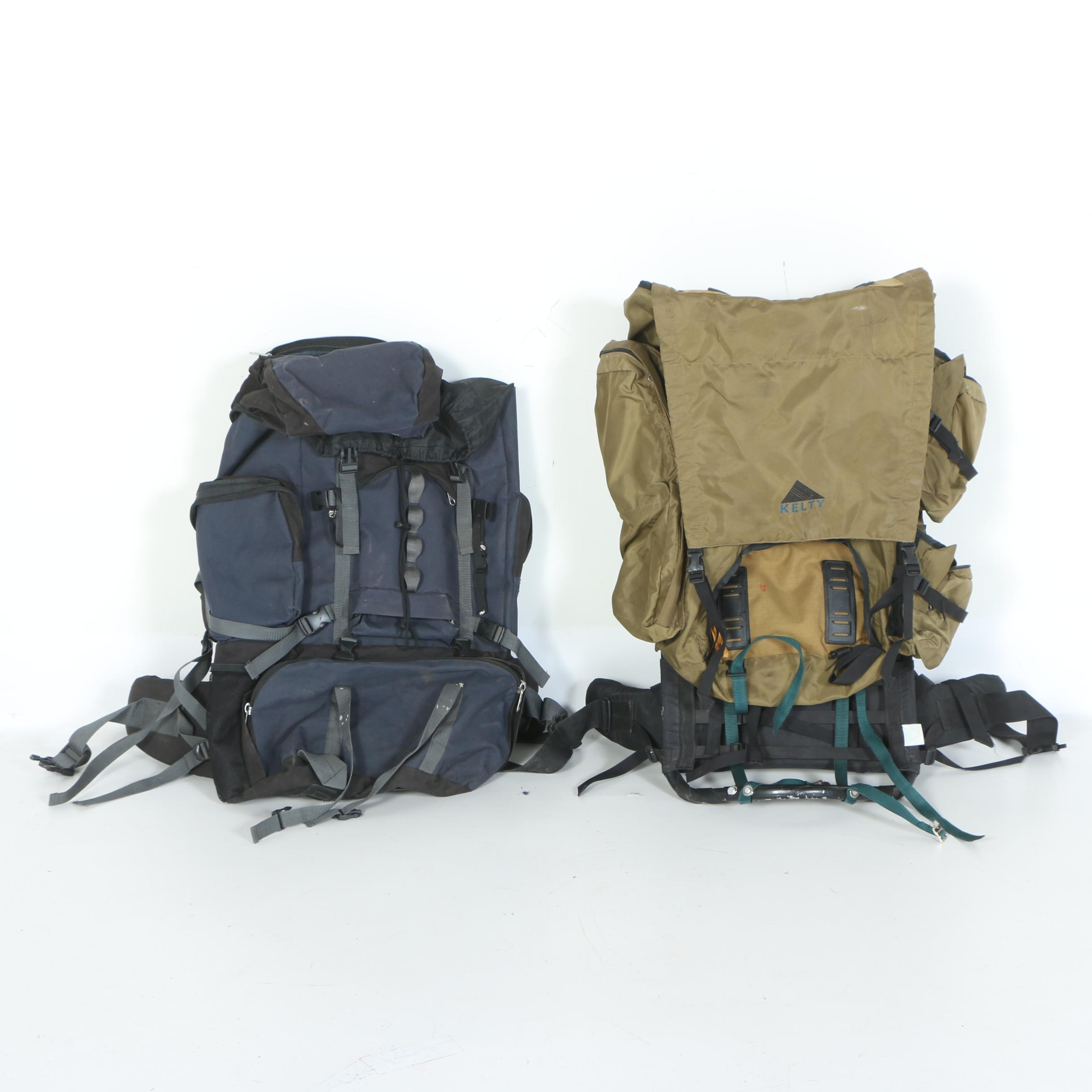 Kelty and Everest Backpacking Packs