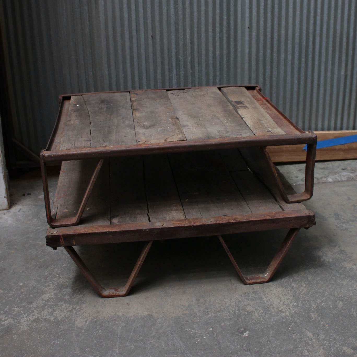 Good Vintage Industrial Style Coffee Tables ...
