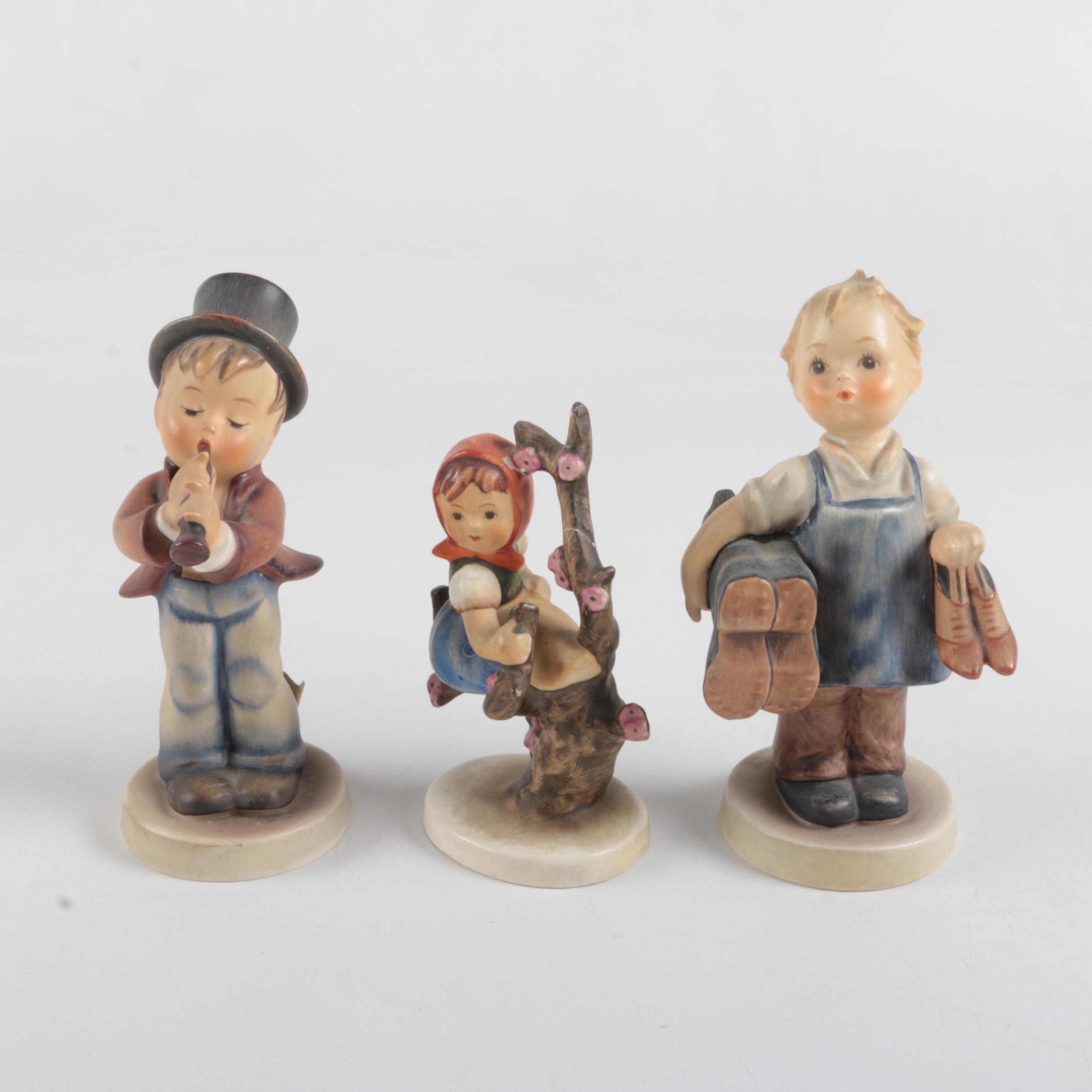 """Vintage Hummel and Goebel Porcelain Figurines Including """"Apple Tree Girl"""""""