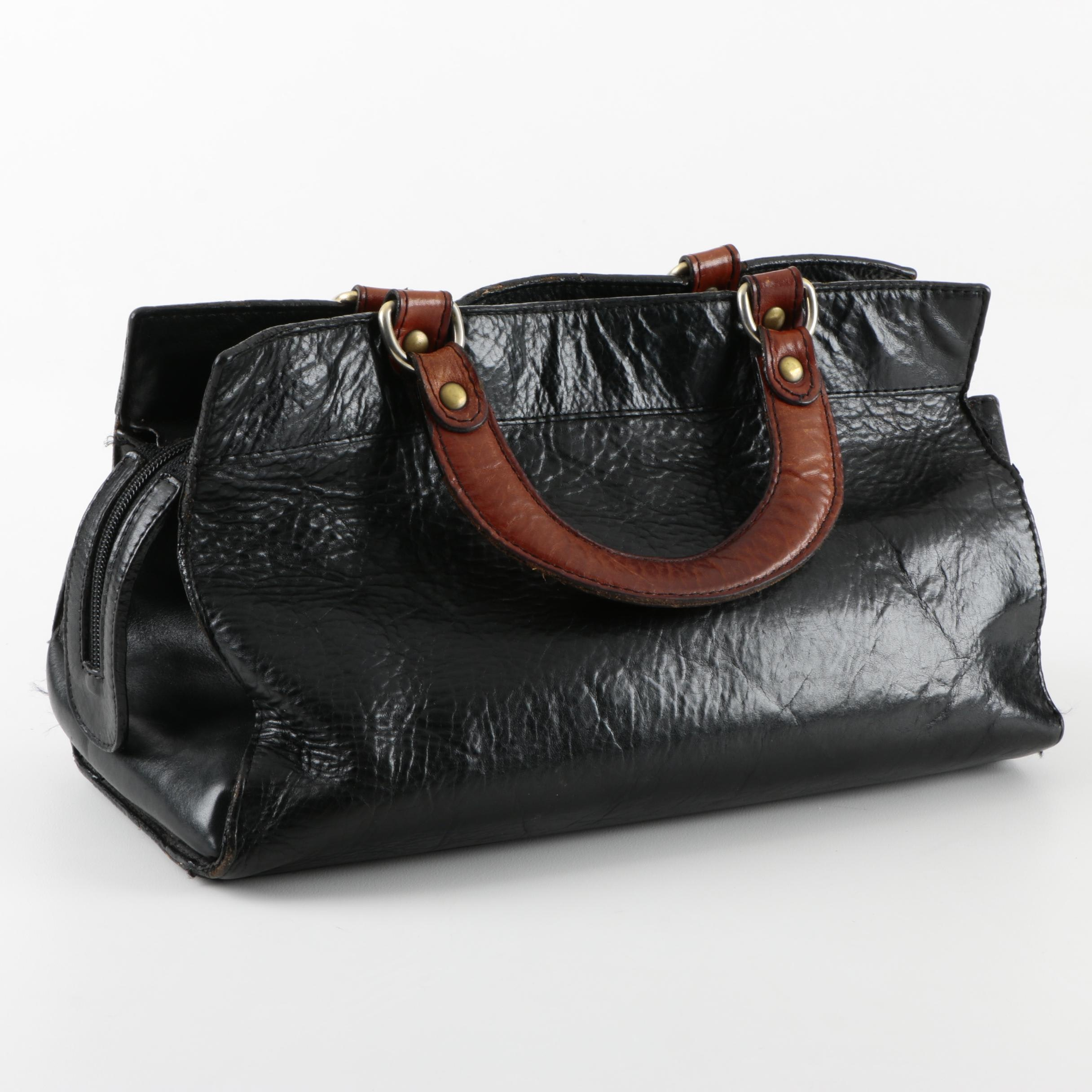 Gabbriela Two Tone Leather Handbag
