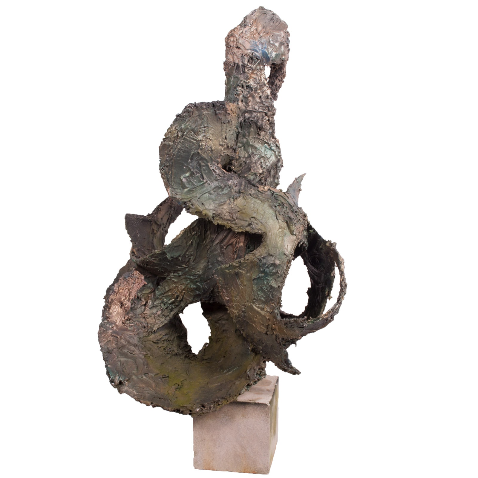 Virginia K. Hess Cold Bronze Maquette Abstract Sculpture