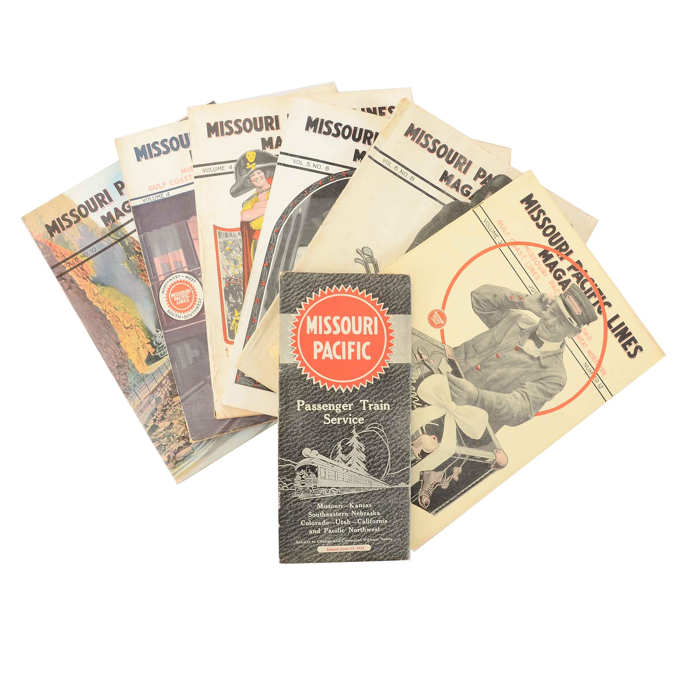 "Six 1920s ""Missouri Pacific Railroad"" Magazines"