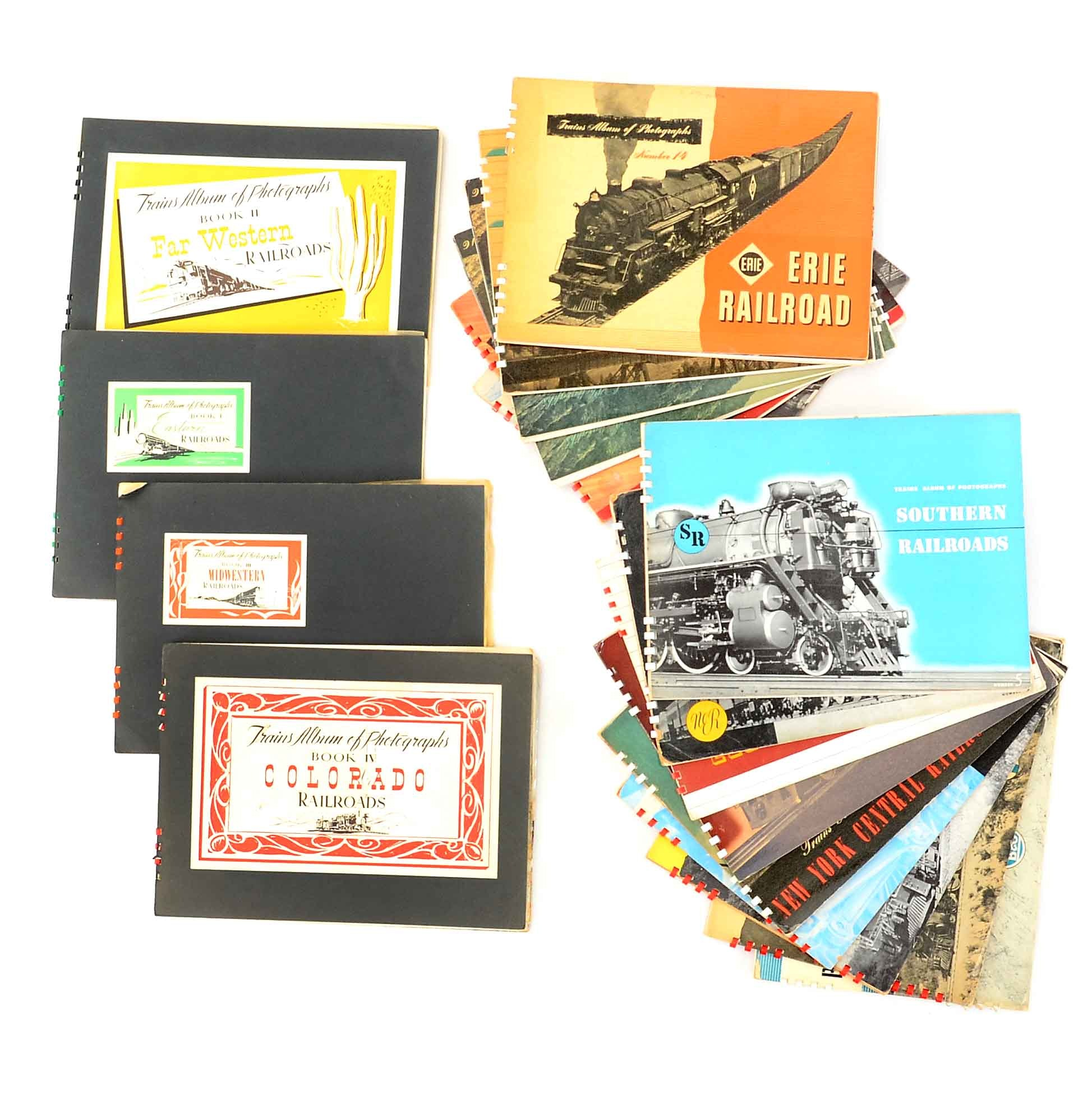 "Vintage Collection of ""Trains Album of Photographs"" Spiral Bound Books"