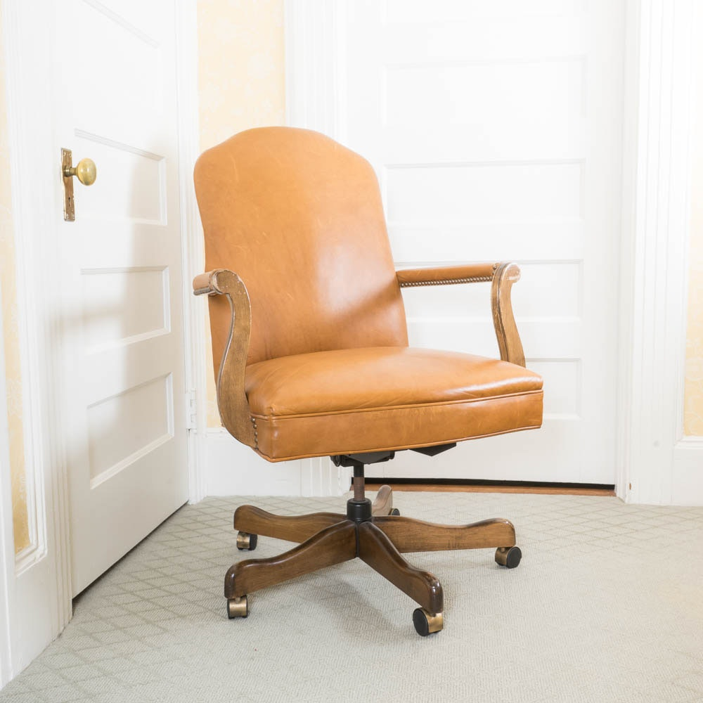 Leather Upholstered Desk Chair