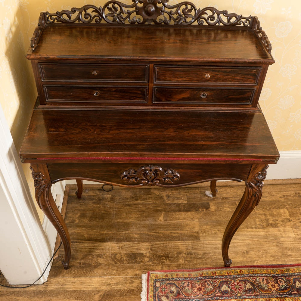 Vintage Queen Anne Style Walnut Desk