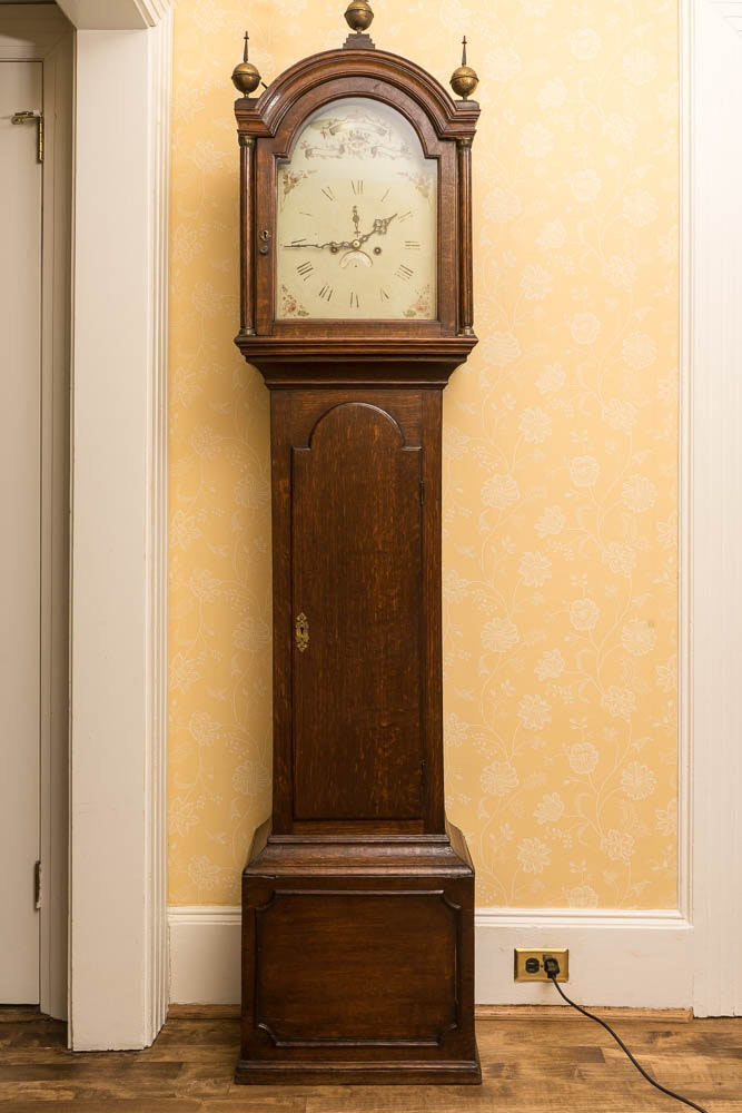 Federal Style Wood Grandfather Clock