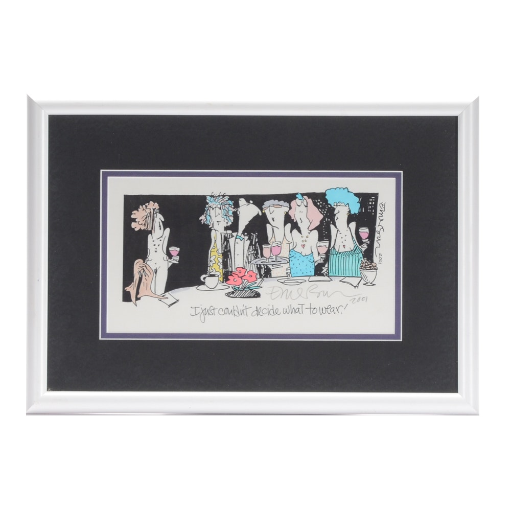 Emerson Quillin Signed Cartoon Print