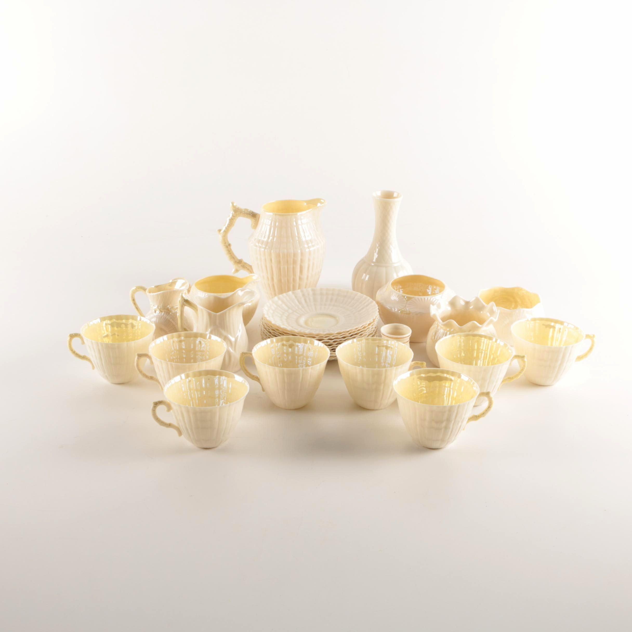 "Belleek ""Limpet Yellow"" Porcelain Tableware"
