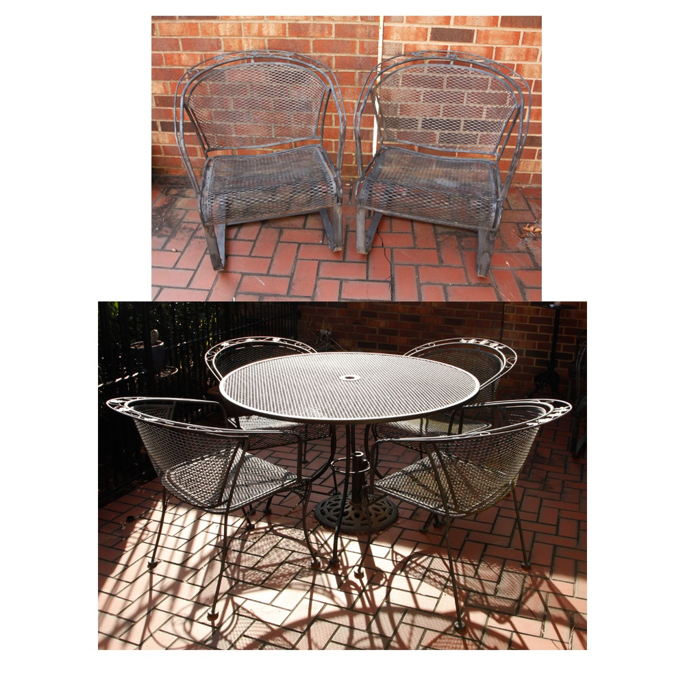 Seven-Piece Metal Patio Furniture Set