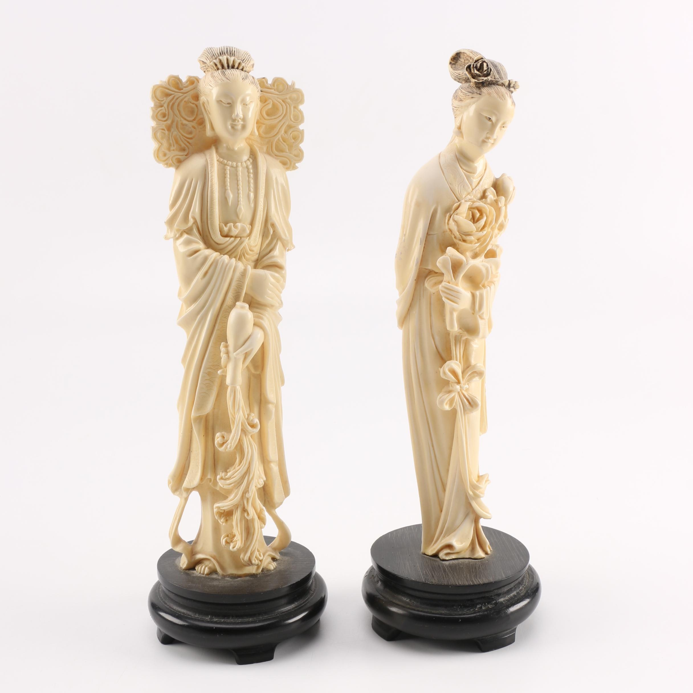 Cast Resin Asian Inspired Figurines