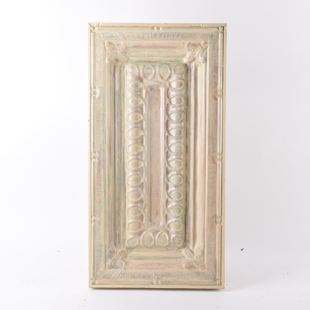 Decorative Tin Ceiling Panel in Frame
