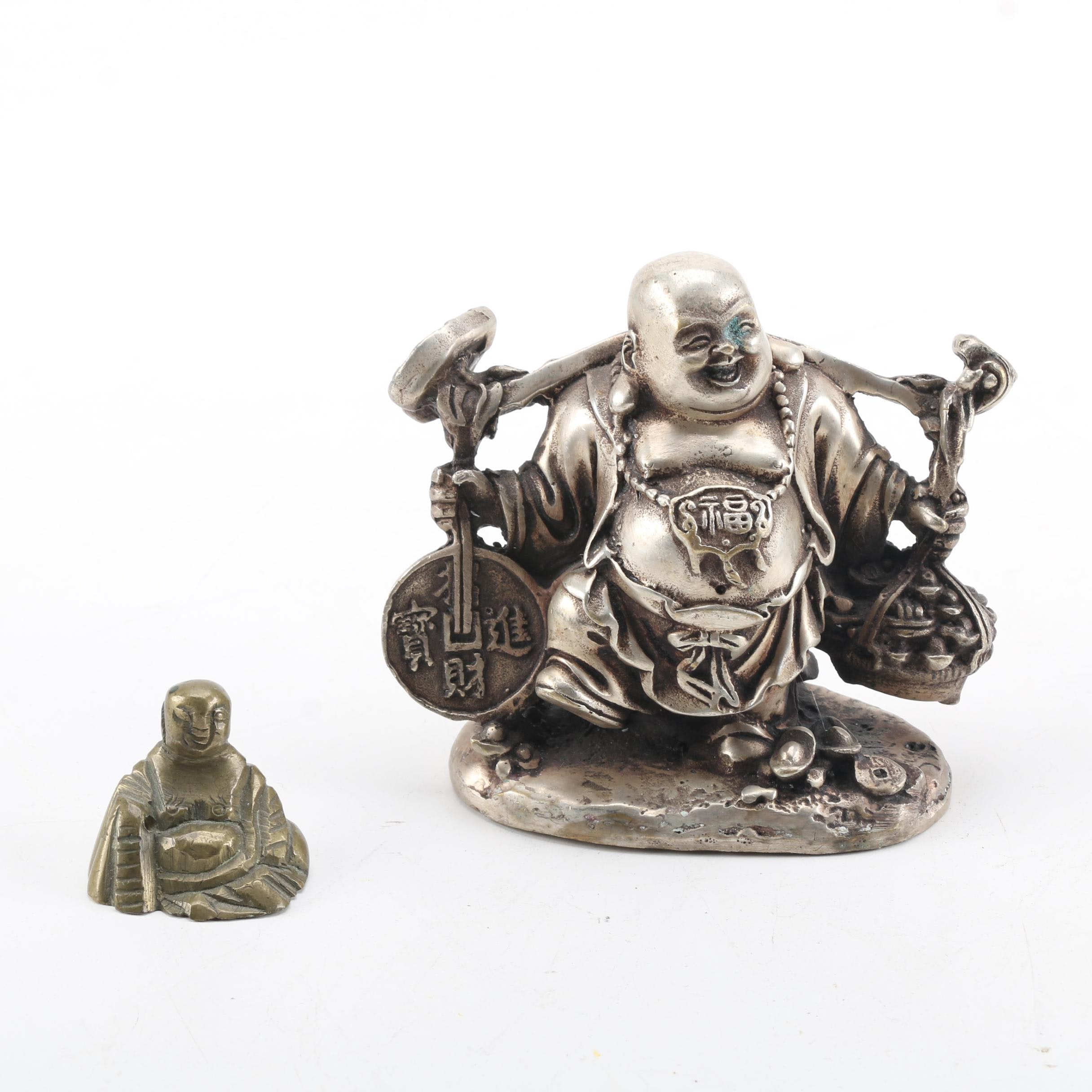Brass and Metal Budai Figurines