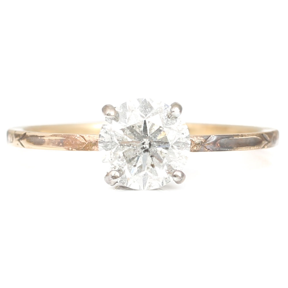 14K Yellow Gold1.02 CT  Diamond Ring
