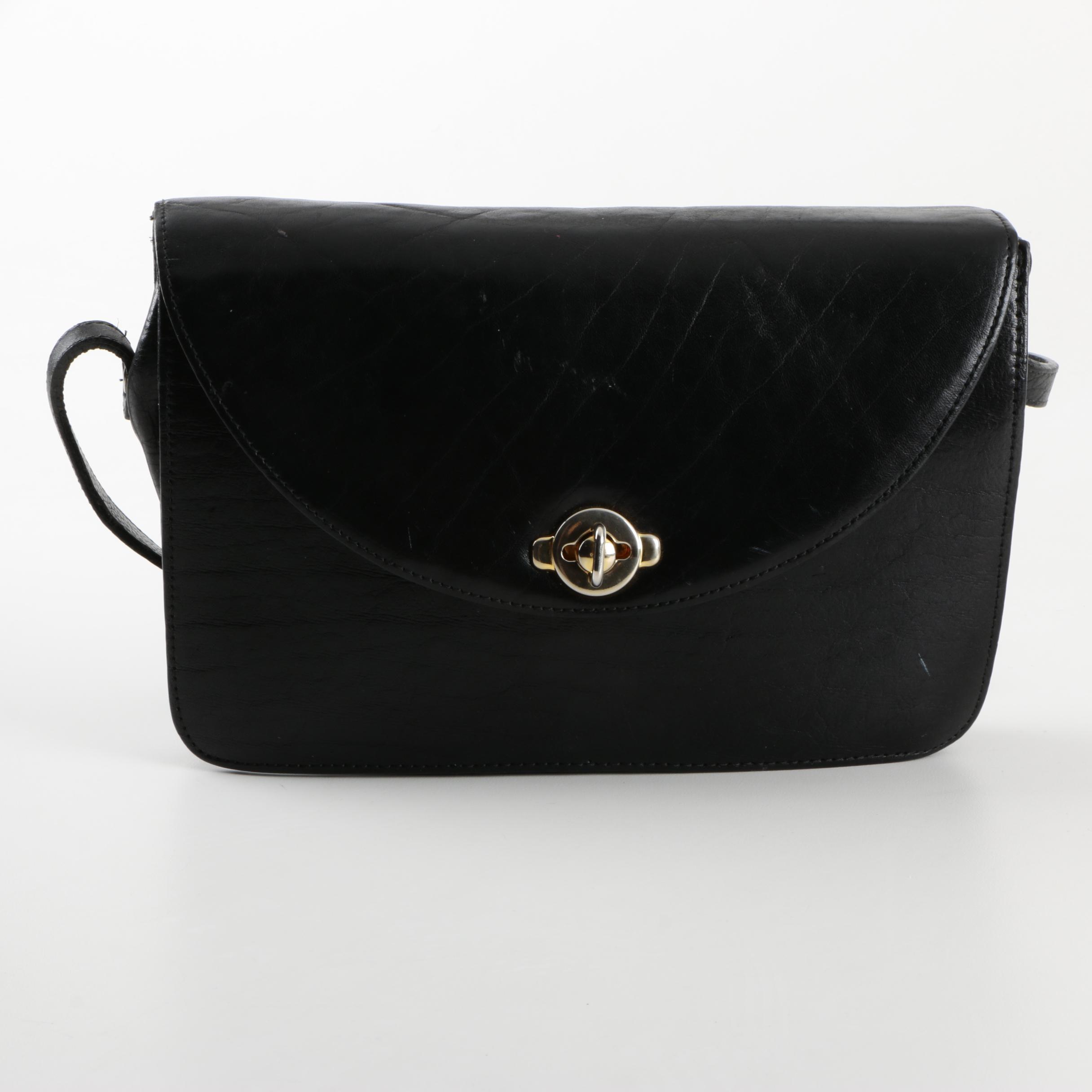 Gabbriele Black Leather Crossbody Bag