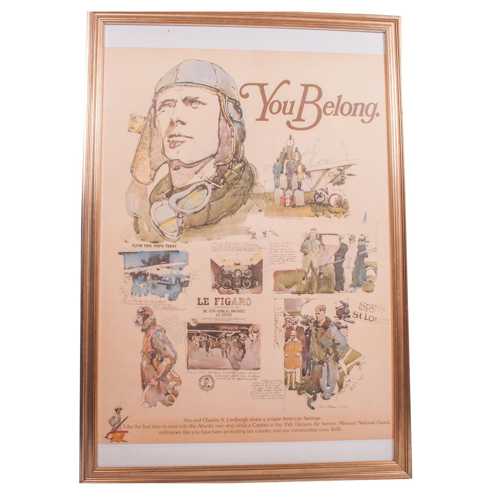 "Ken Dallison Offset Lithograph on Paper ""You Belong"" National Reserves Poster"