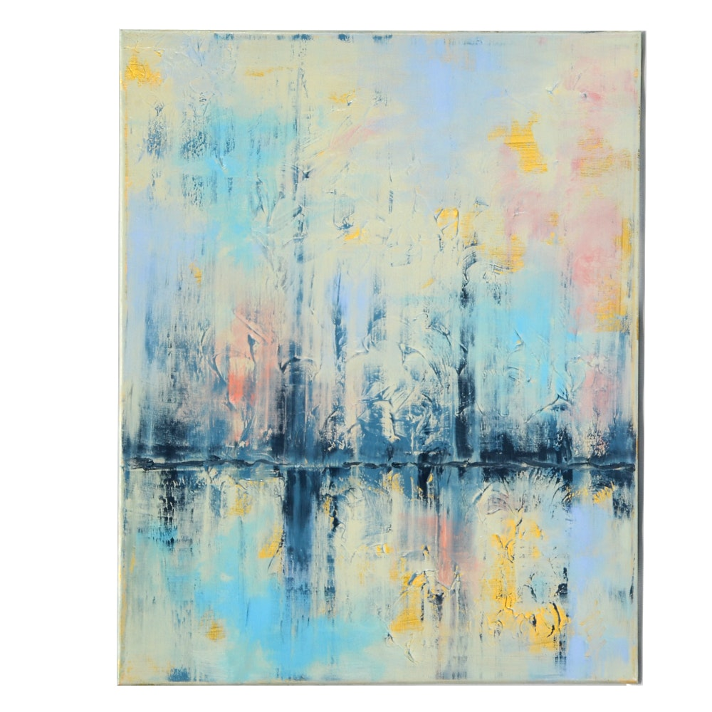 Original Abstract Oil Painting on Linen