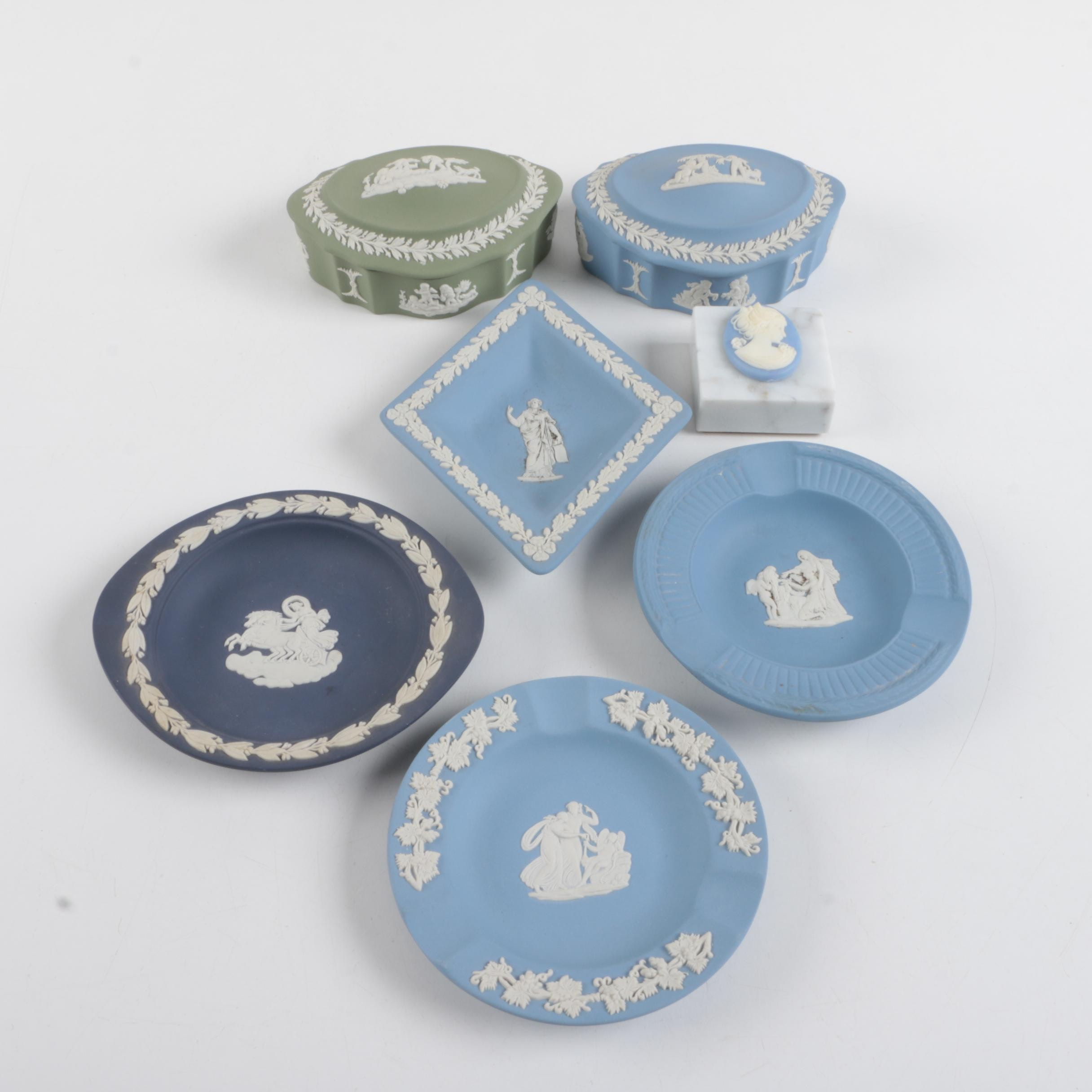 Wedgwood Jasperware Candy Boxes, Ashtrays, and Dishes