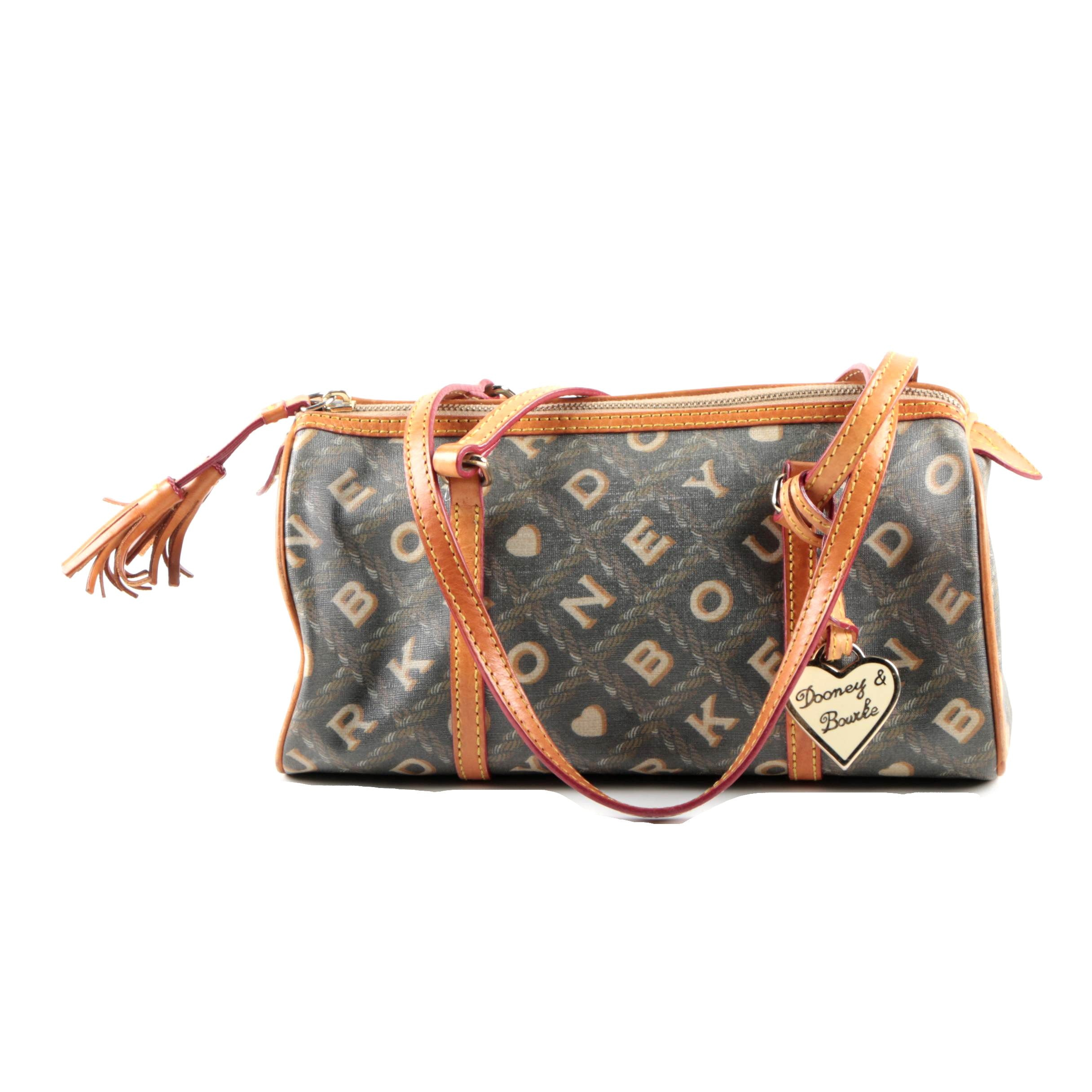 Dooney & Bourke Coated Canvas and Leather Satchel