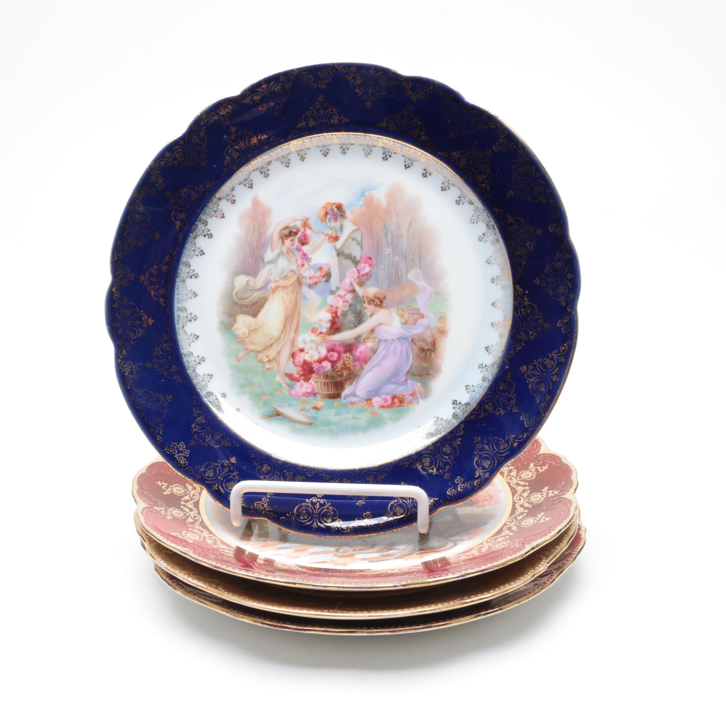 Antique Knights Templar Semi-Vitreous Porcelain Plates