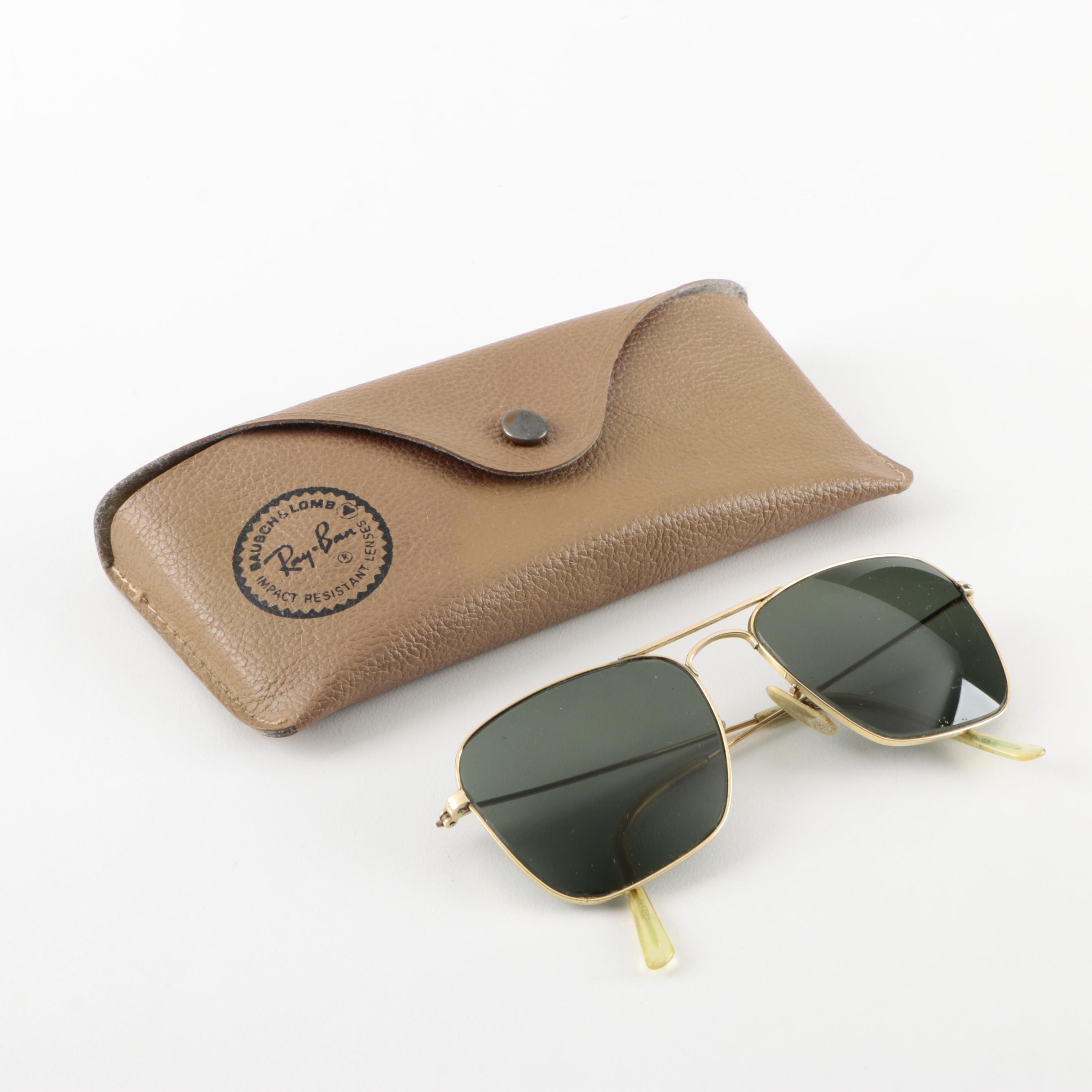 Vintage Ray-Ban 12K GF Aviator Sunglasses