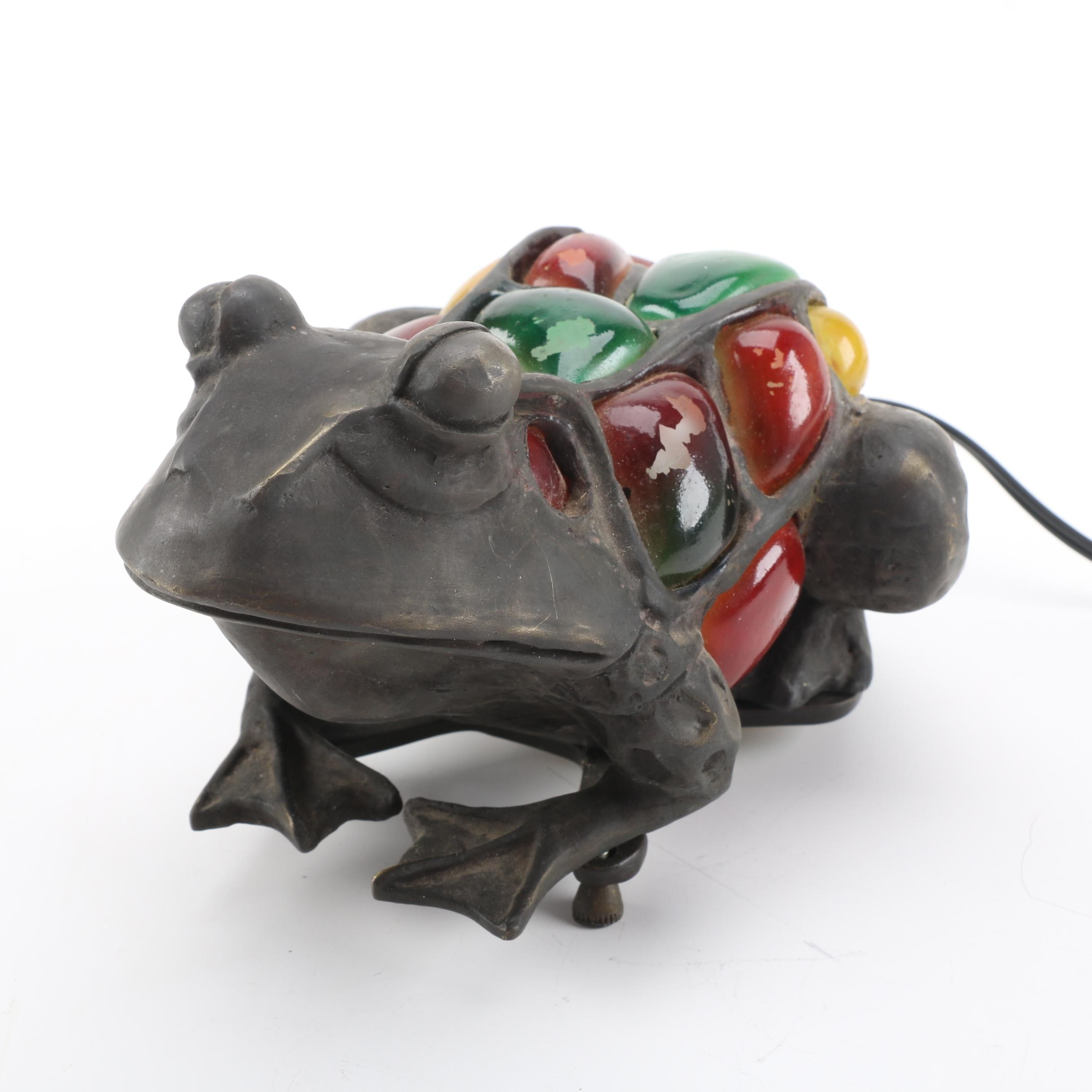 Metal Frog Accent Lamp