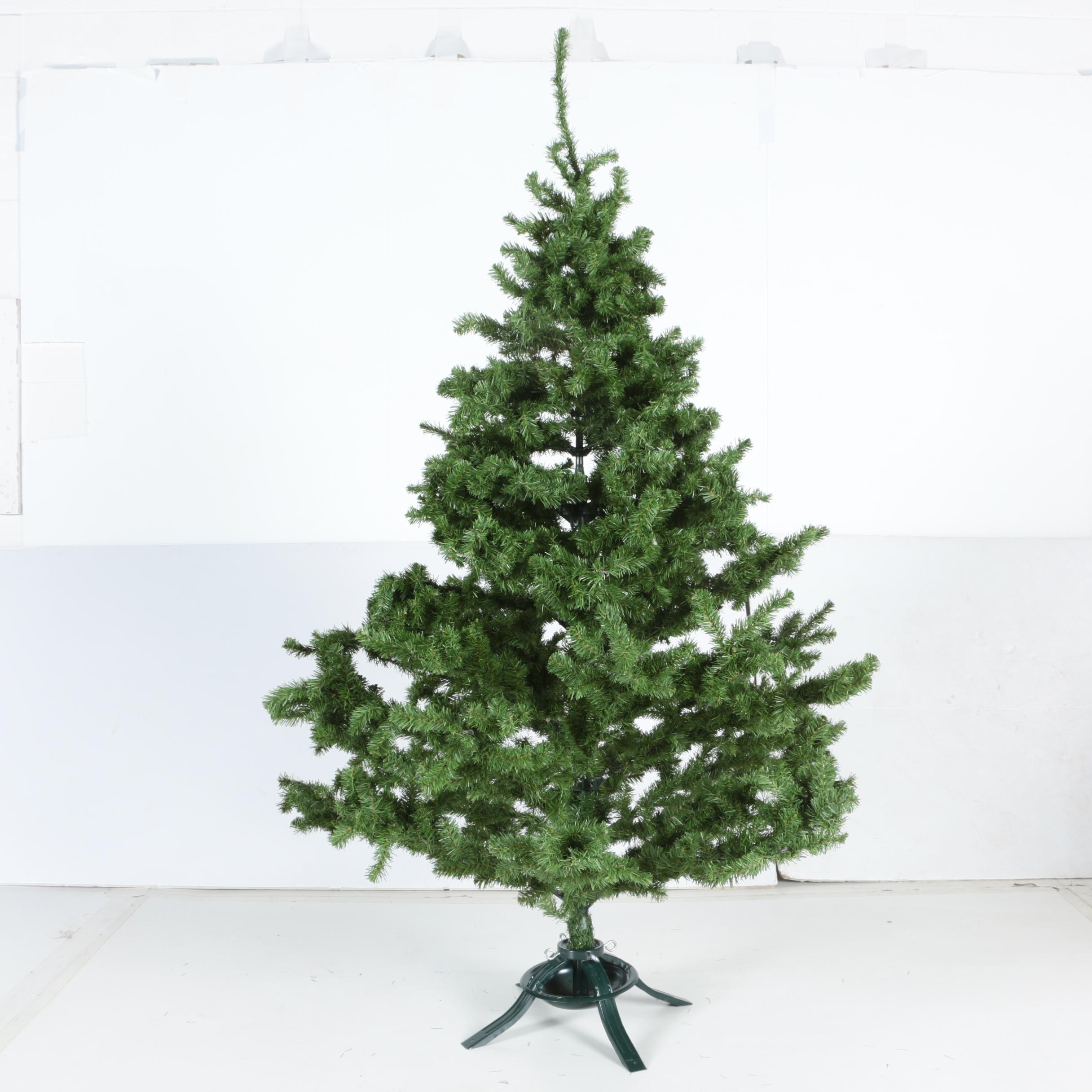 Six Foot Faux Christmas Tree with Stand