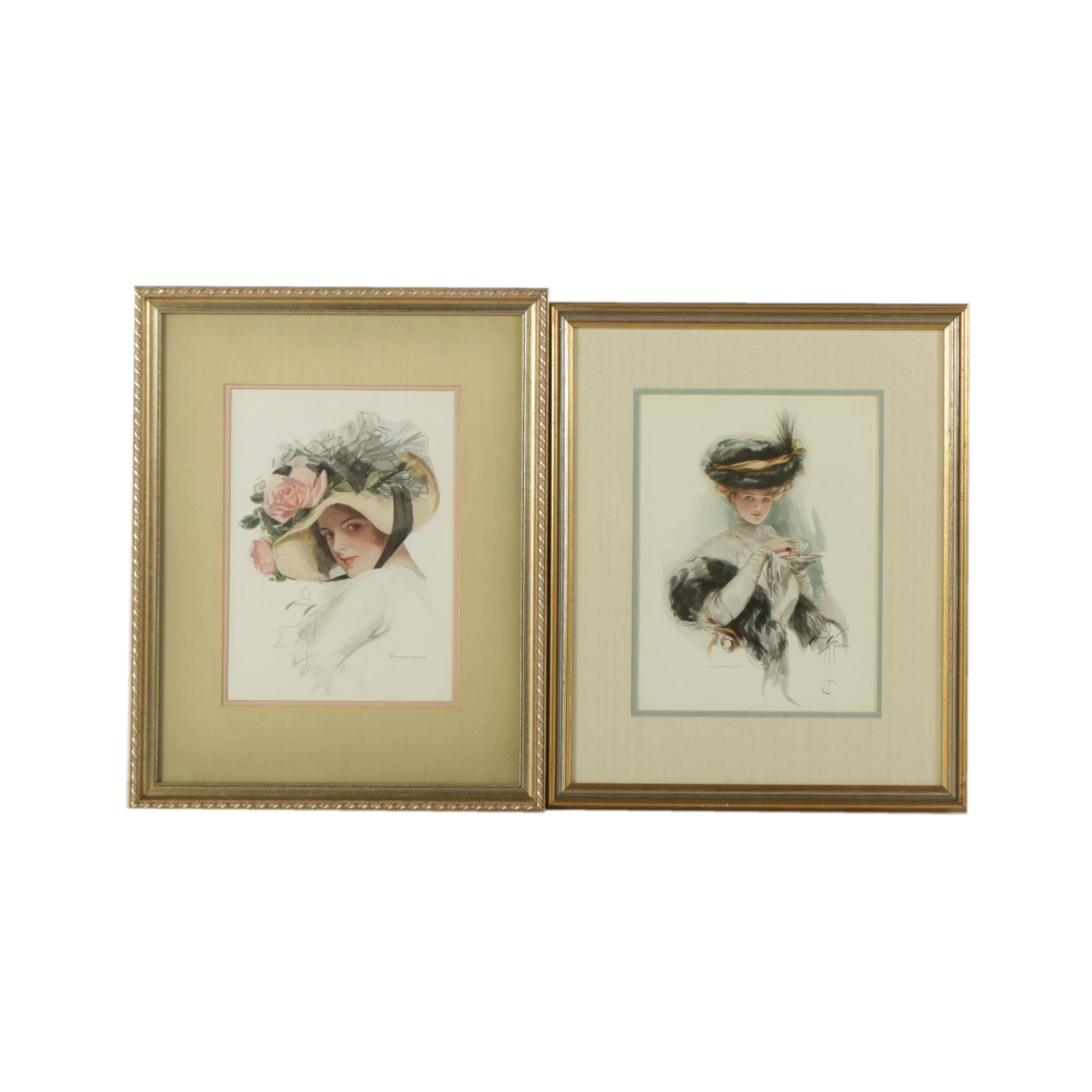 Pair of Offset Lithographs on Paper of Portraits