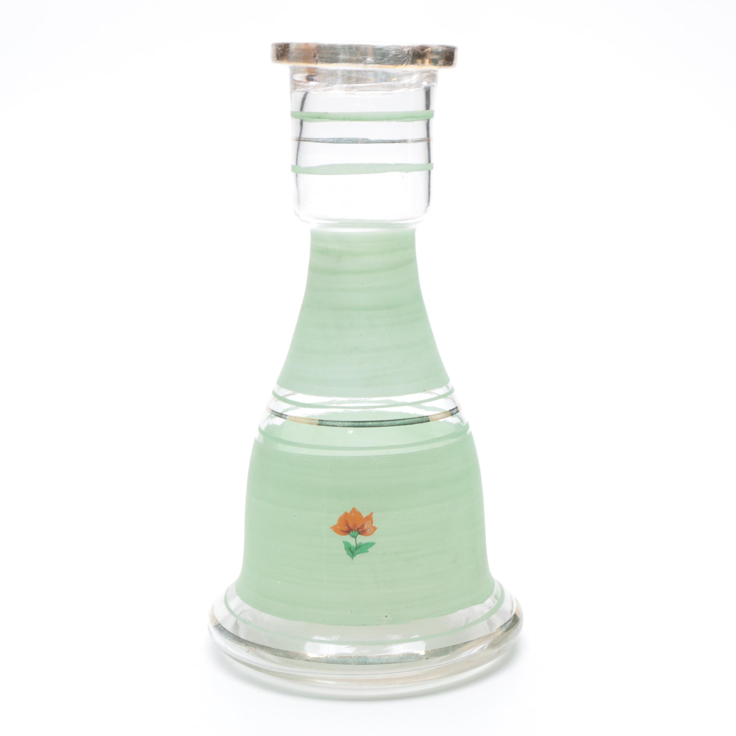Hand-Painted Glass Carafe
