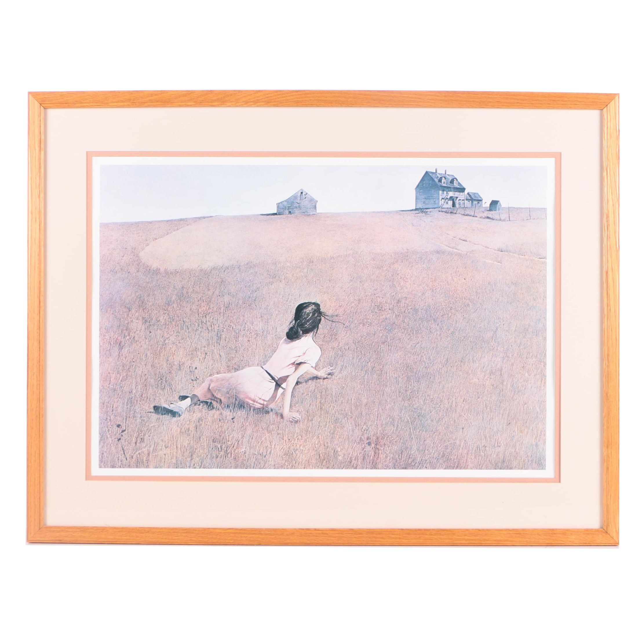 "Offset Lithograph After Andrew Wyeth's ""Christina's World"""