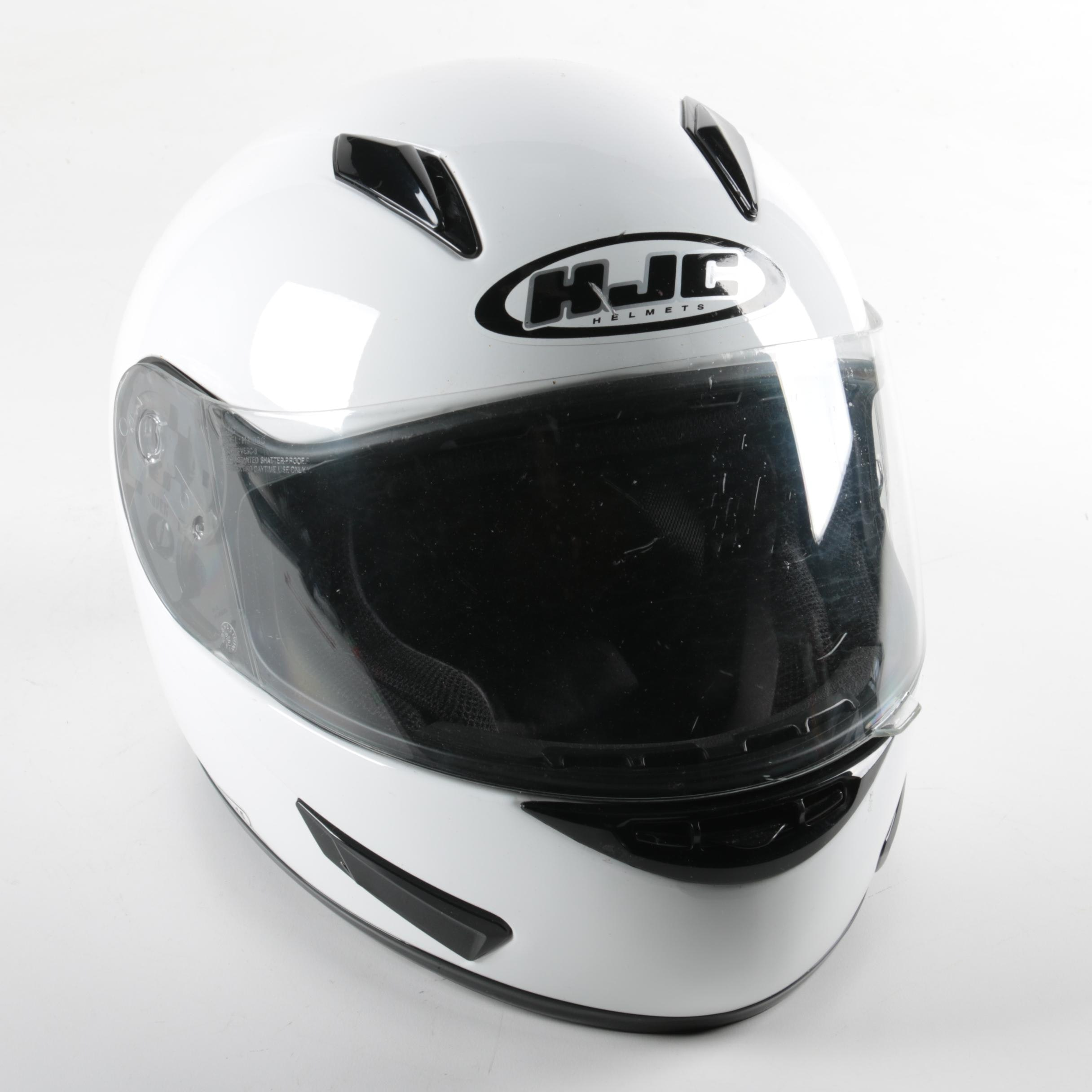 HJC White Motorcycle Helmet