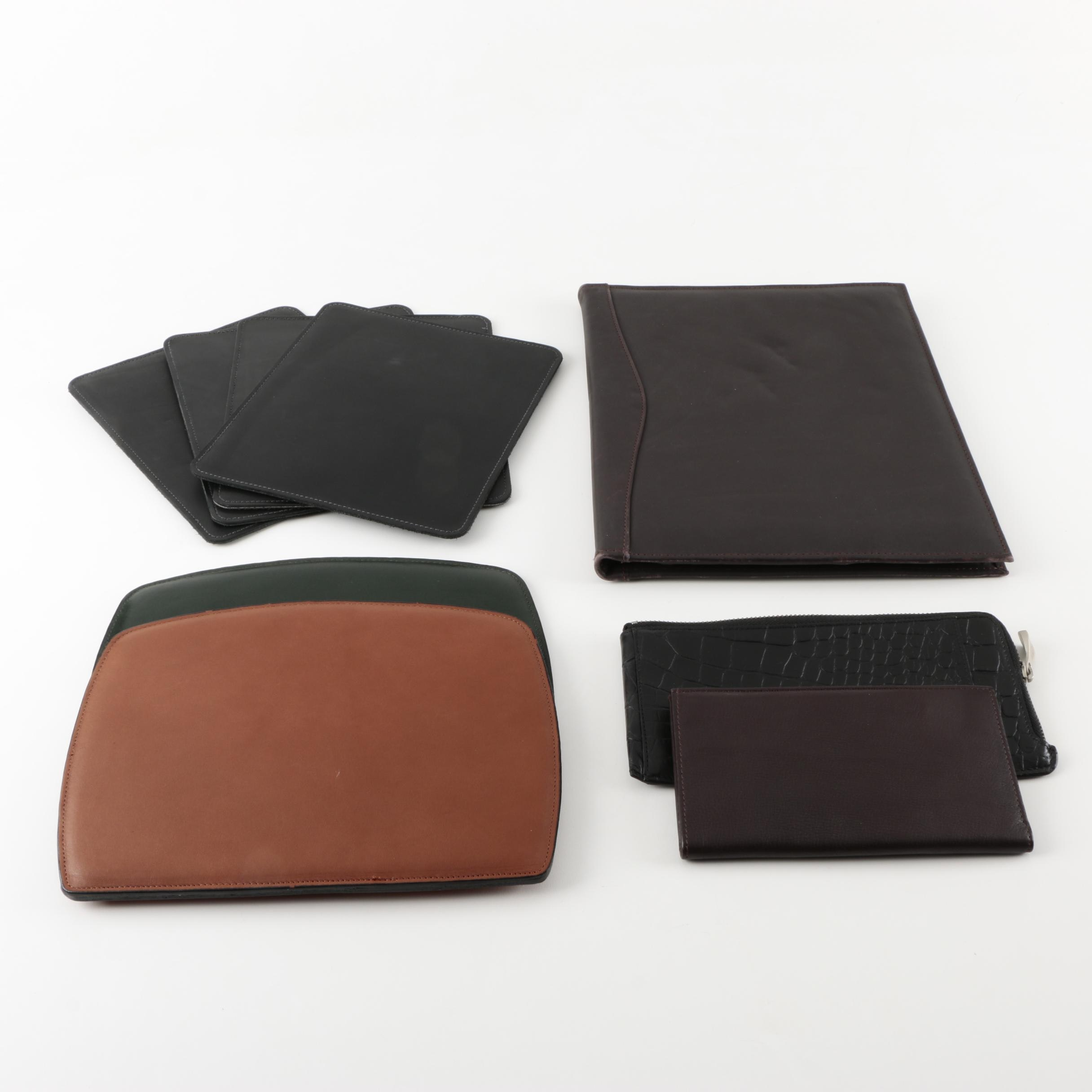 Leather Portfolio, Wallets and Mousepads