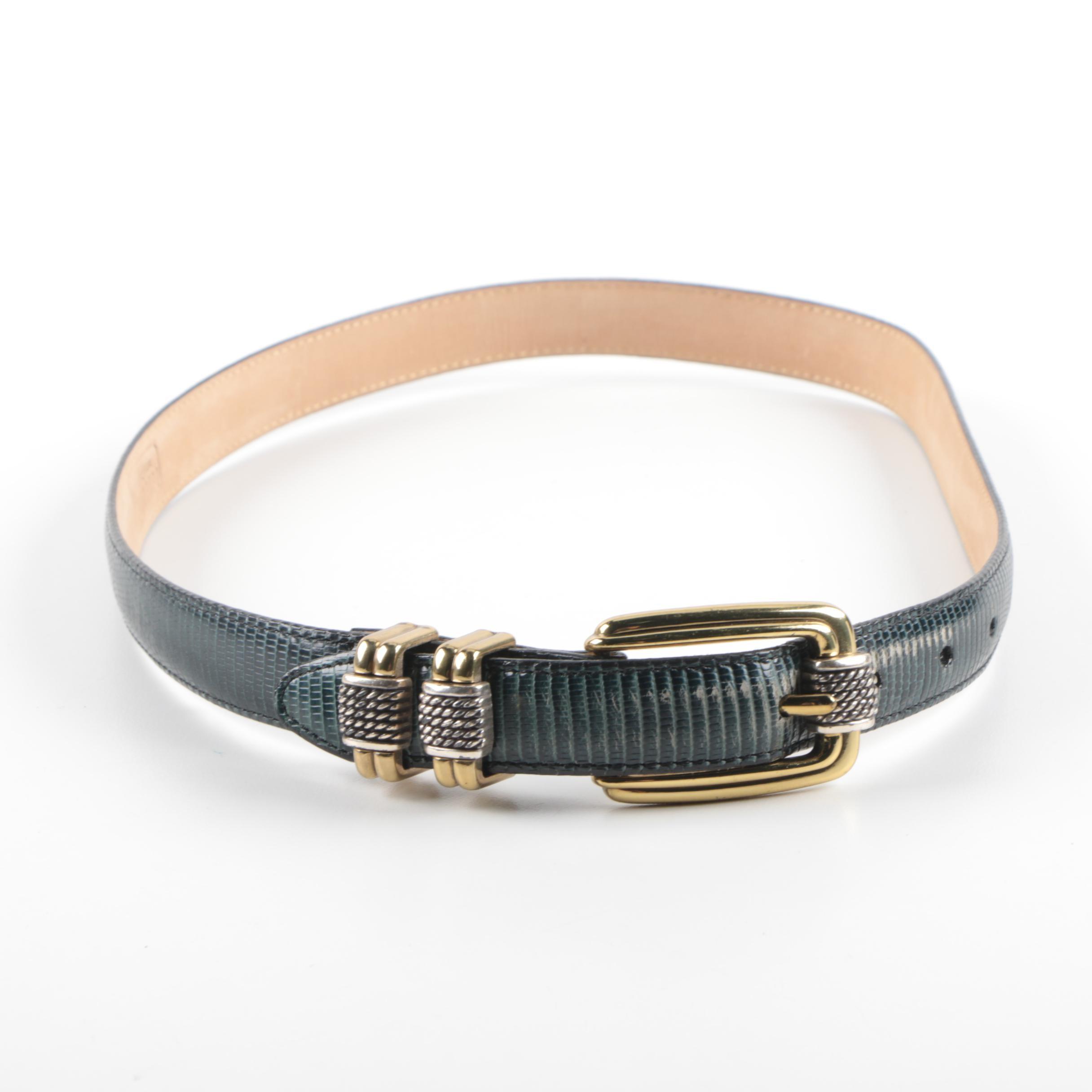 Women's Brighton Classics Leather and Metal Belt