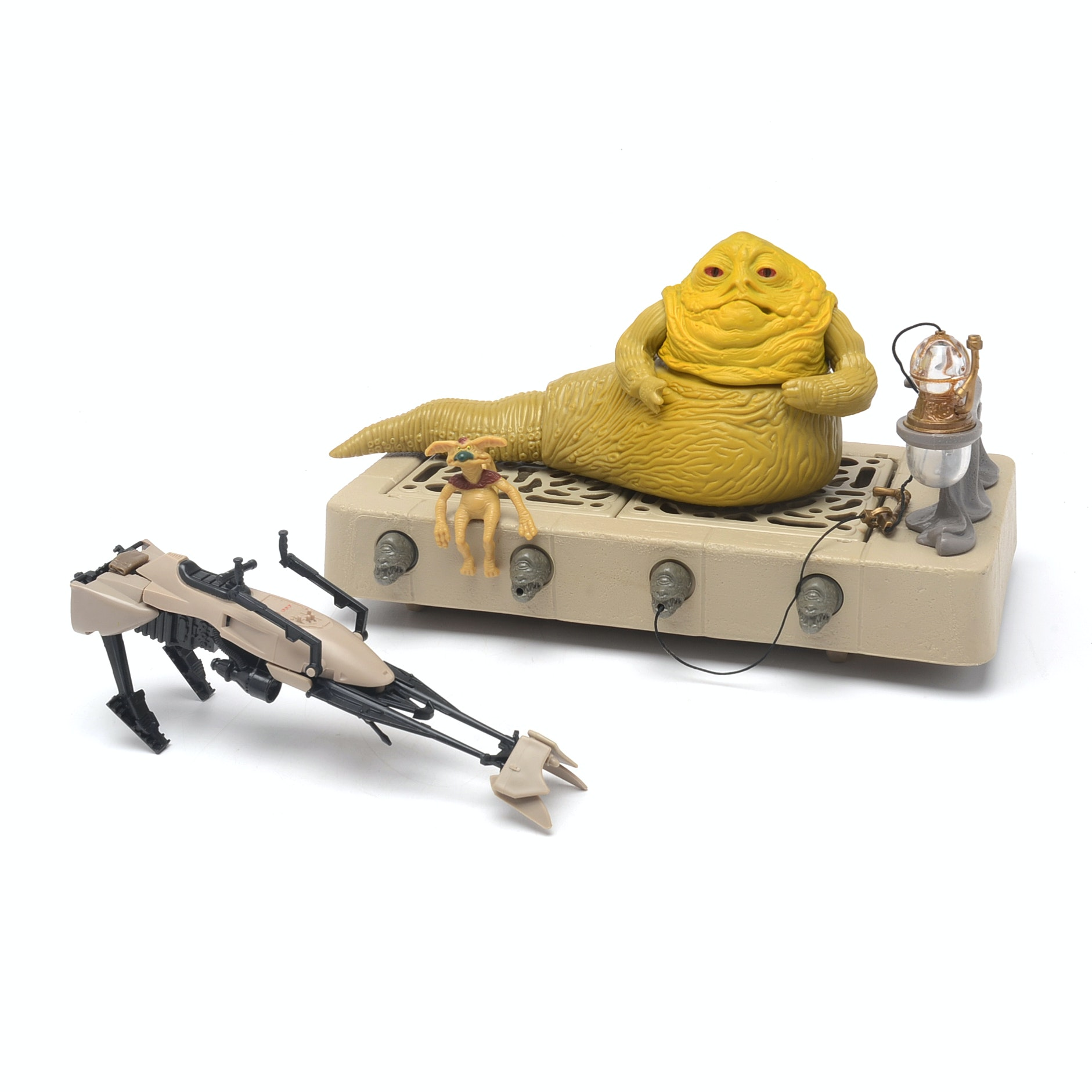 Vintage Return of the Jedi Jabba the Hutt Action Play Set and Speeder Bike