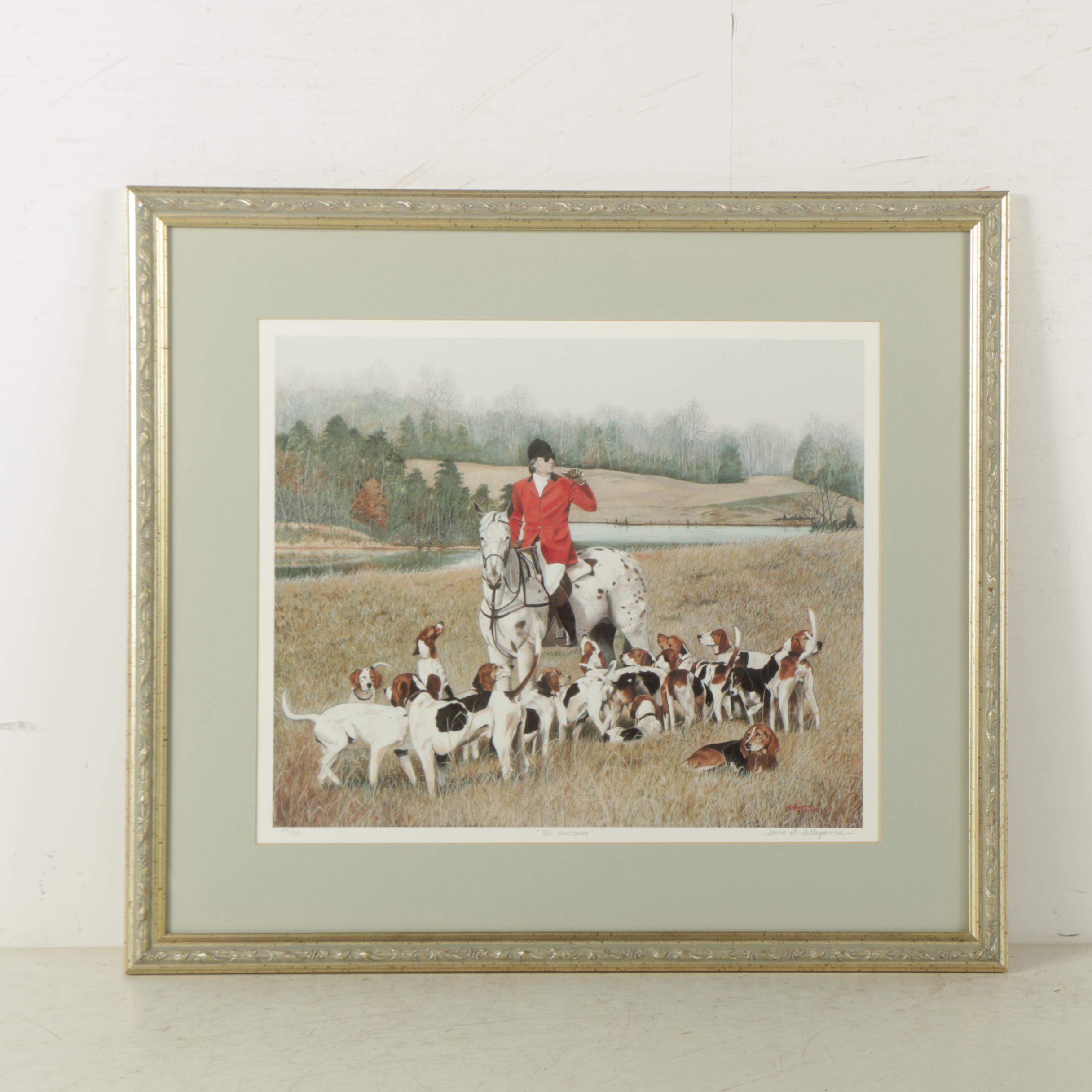 "Donna L. Dellaganna Limited Edition Offset Lithograph ""The Huntsman"""