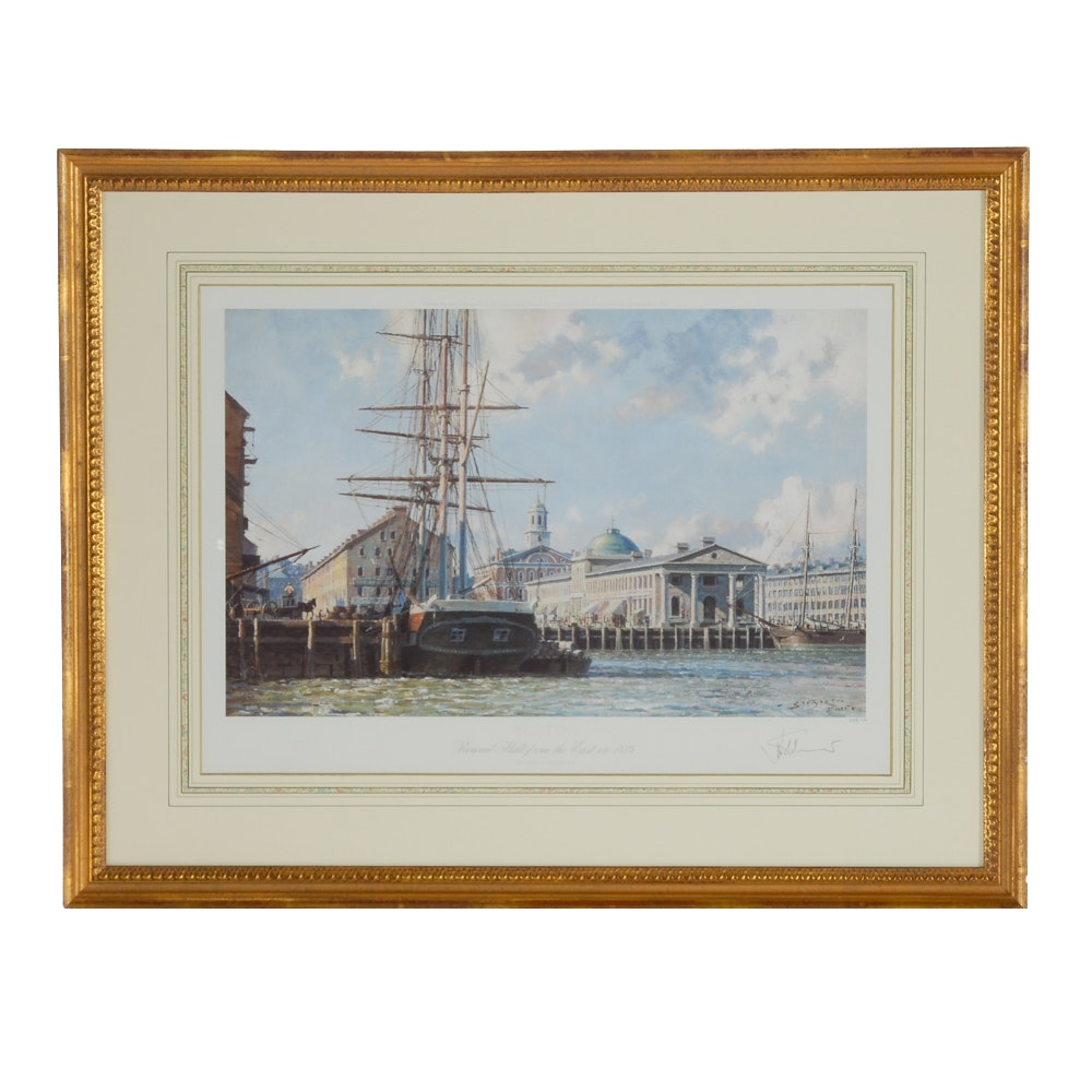 "John Stobart Limited Edition Offset Lithograph ""Faneuil Hall from the East..."""