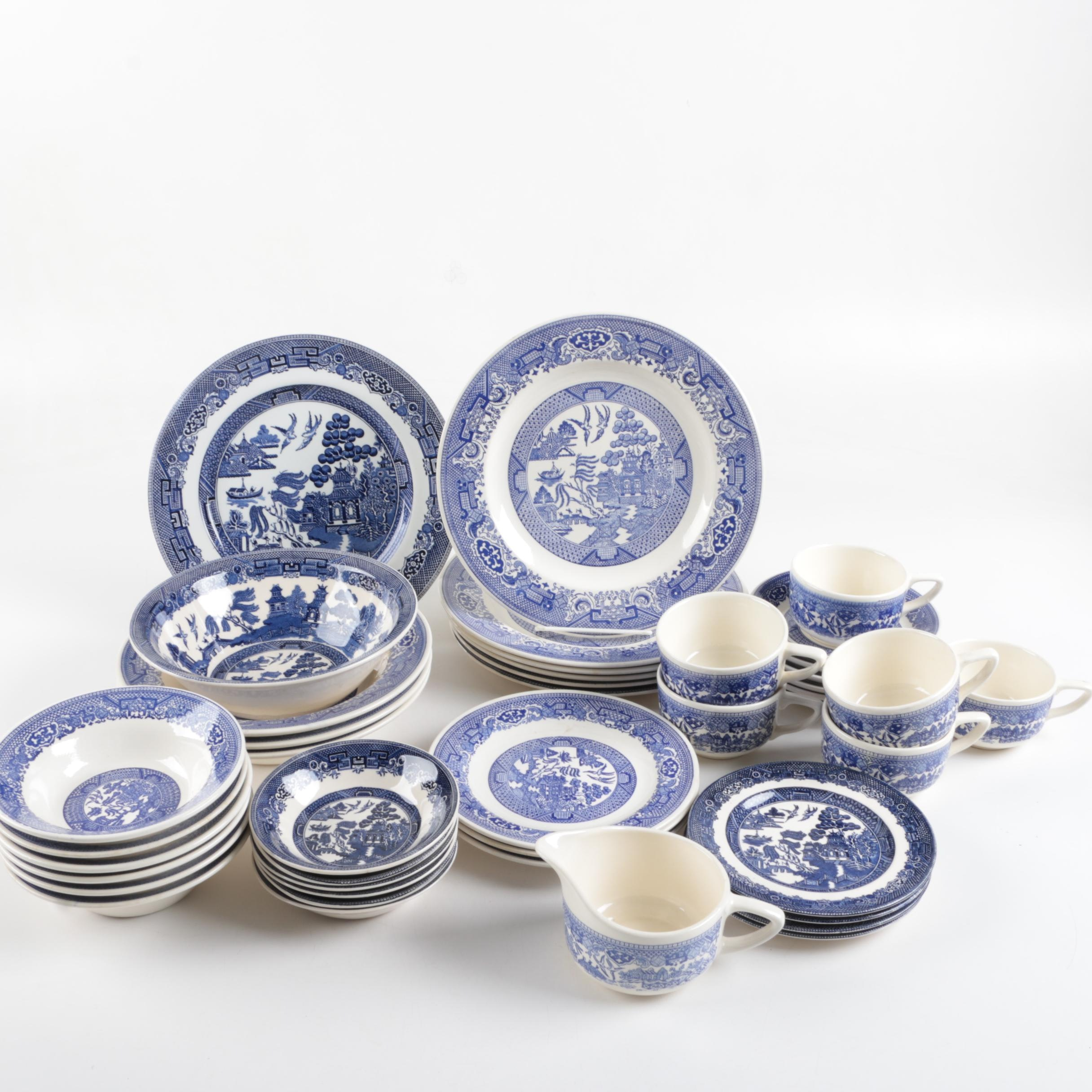 "Johnson Brothers ""Willow"" Tableware"