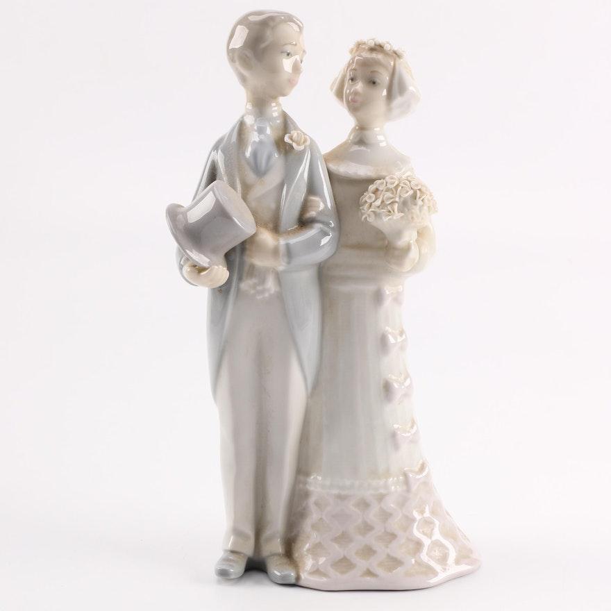 Bride Standing On Books Cake Topper