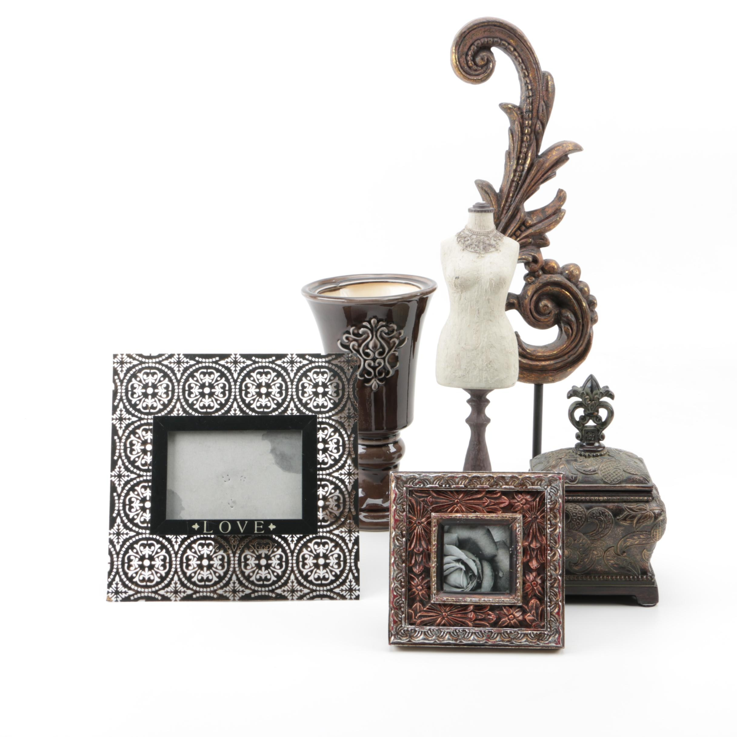 Ornate Frames and Decorative Items