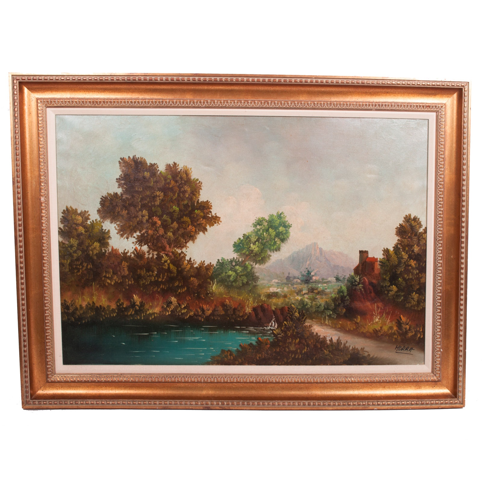 Substantial Oil Painting on Canvas of Landscape
