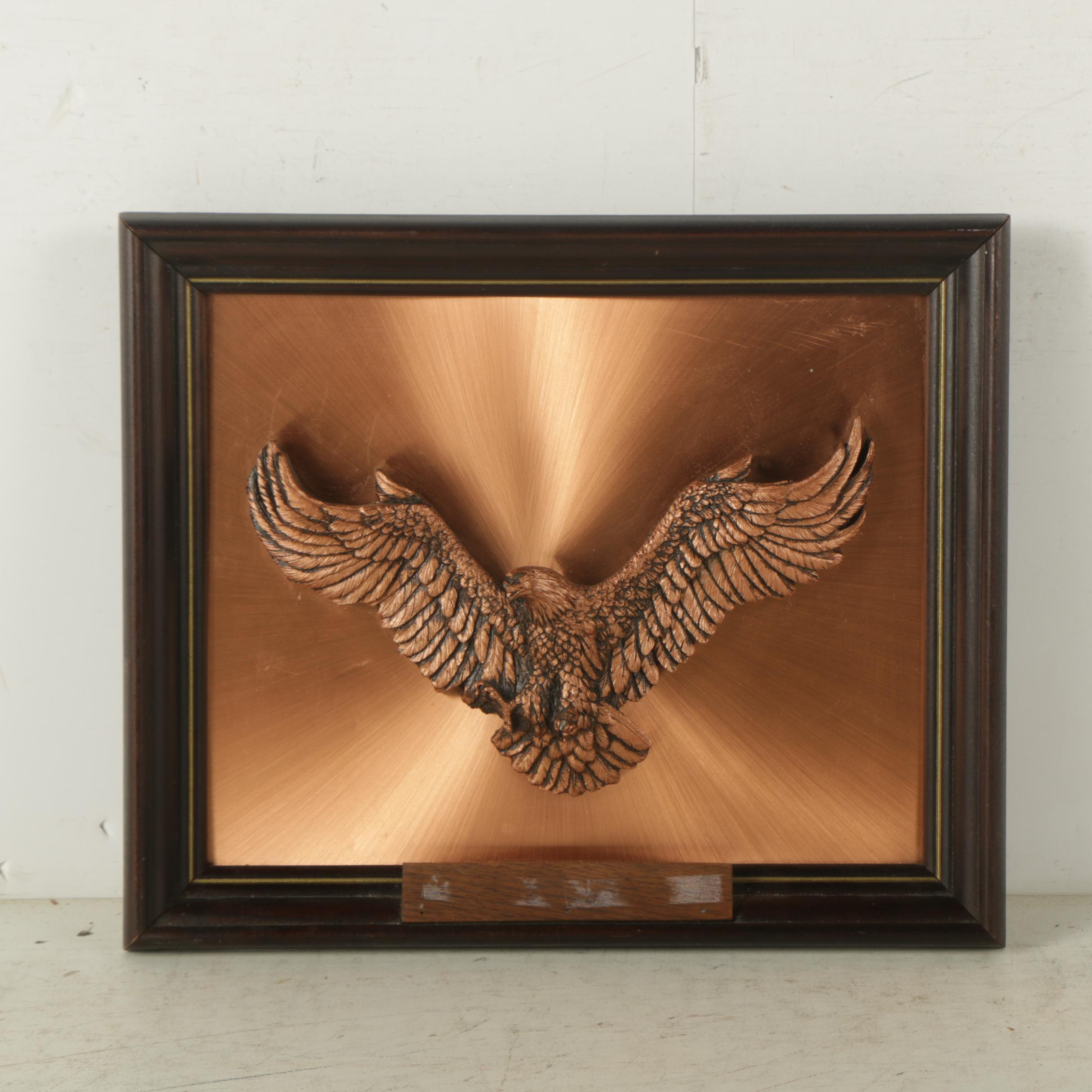 Copper and Resin Bald Eagle Plaque