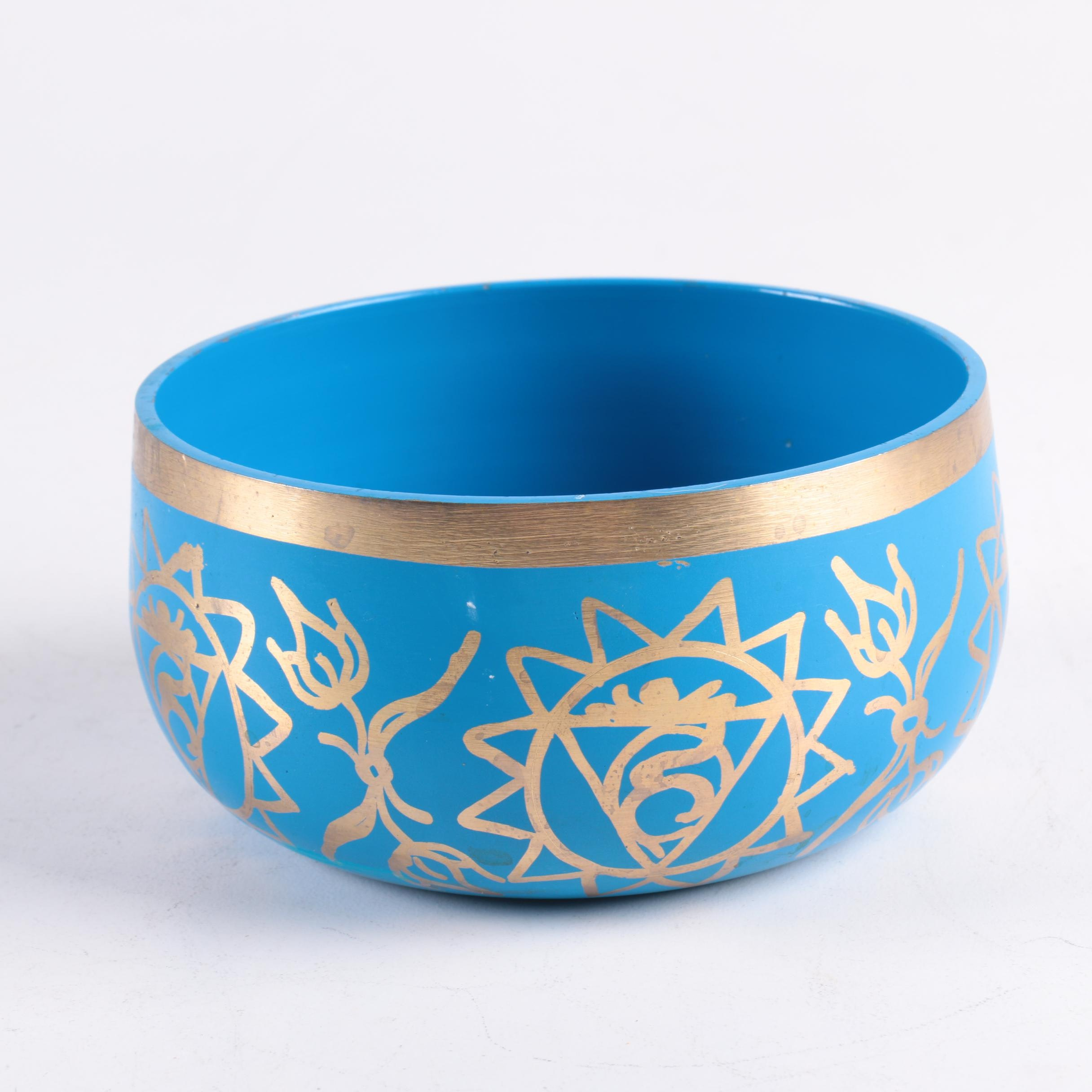 Hand Painted Brass Bowl