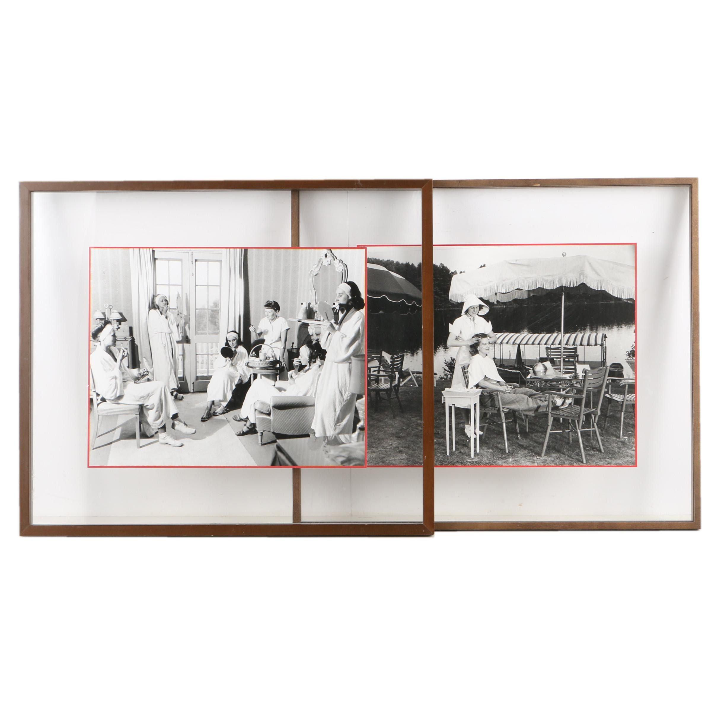 Silver Gelatin Photographs Featuring Elizabeth Arden's Maine Chance Spa