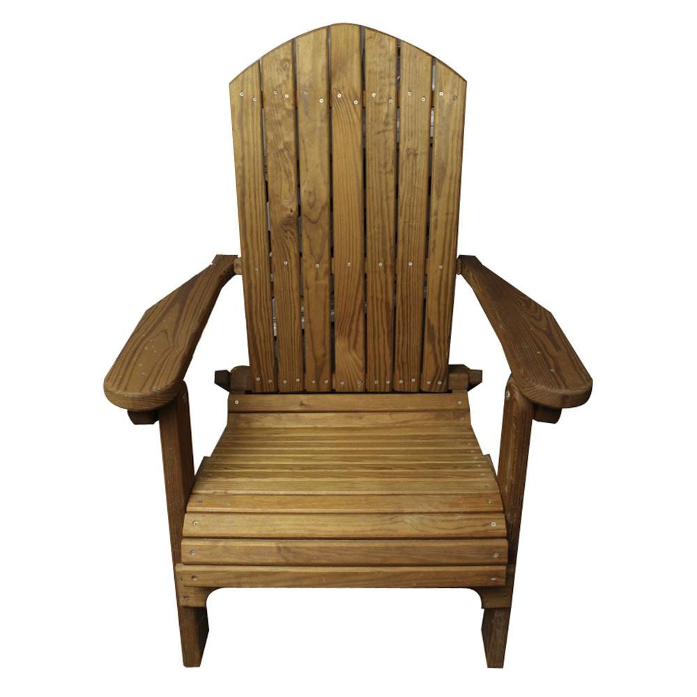 Teak Adirondack Style Chair