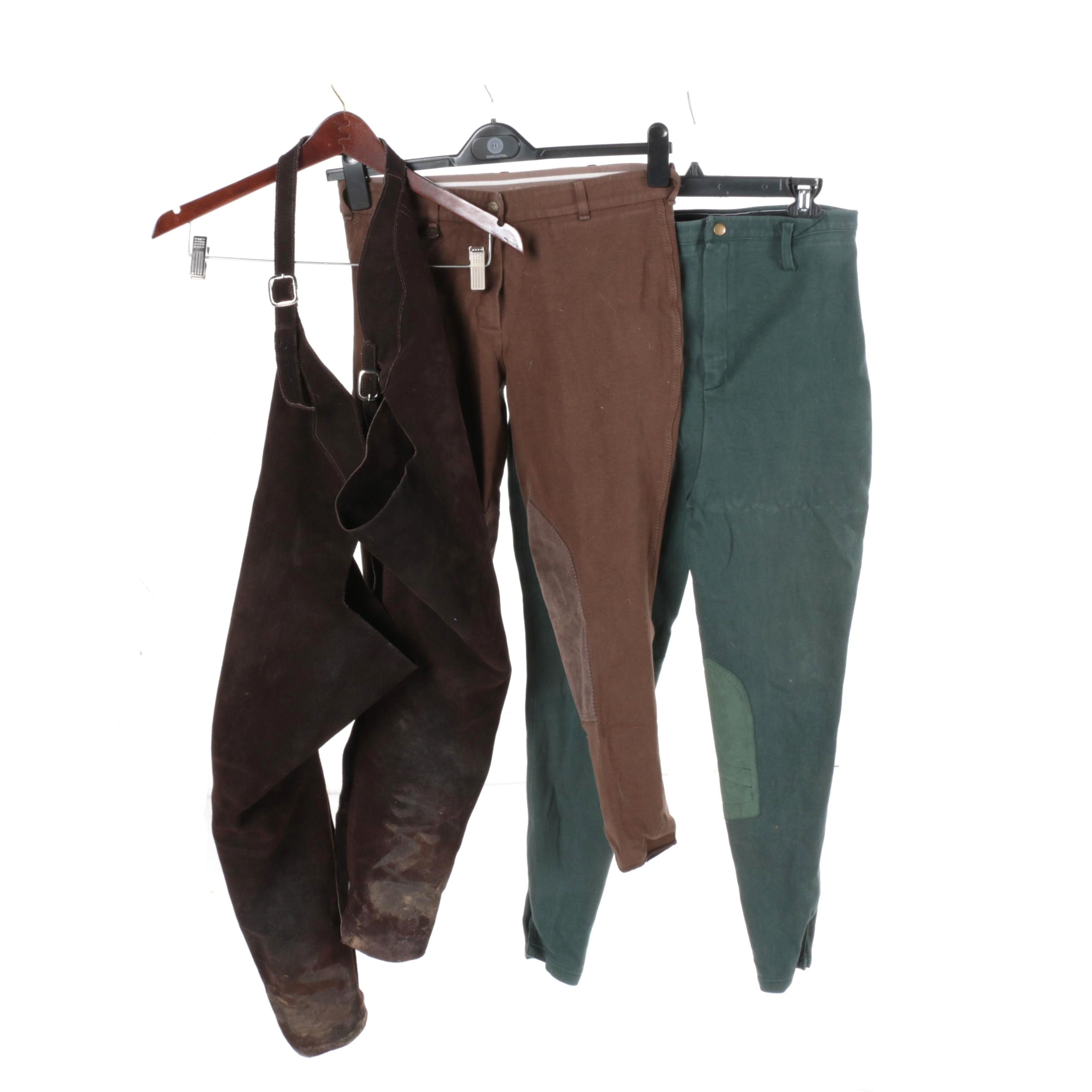 Women's Equestrian Riding Breeches and Chaps