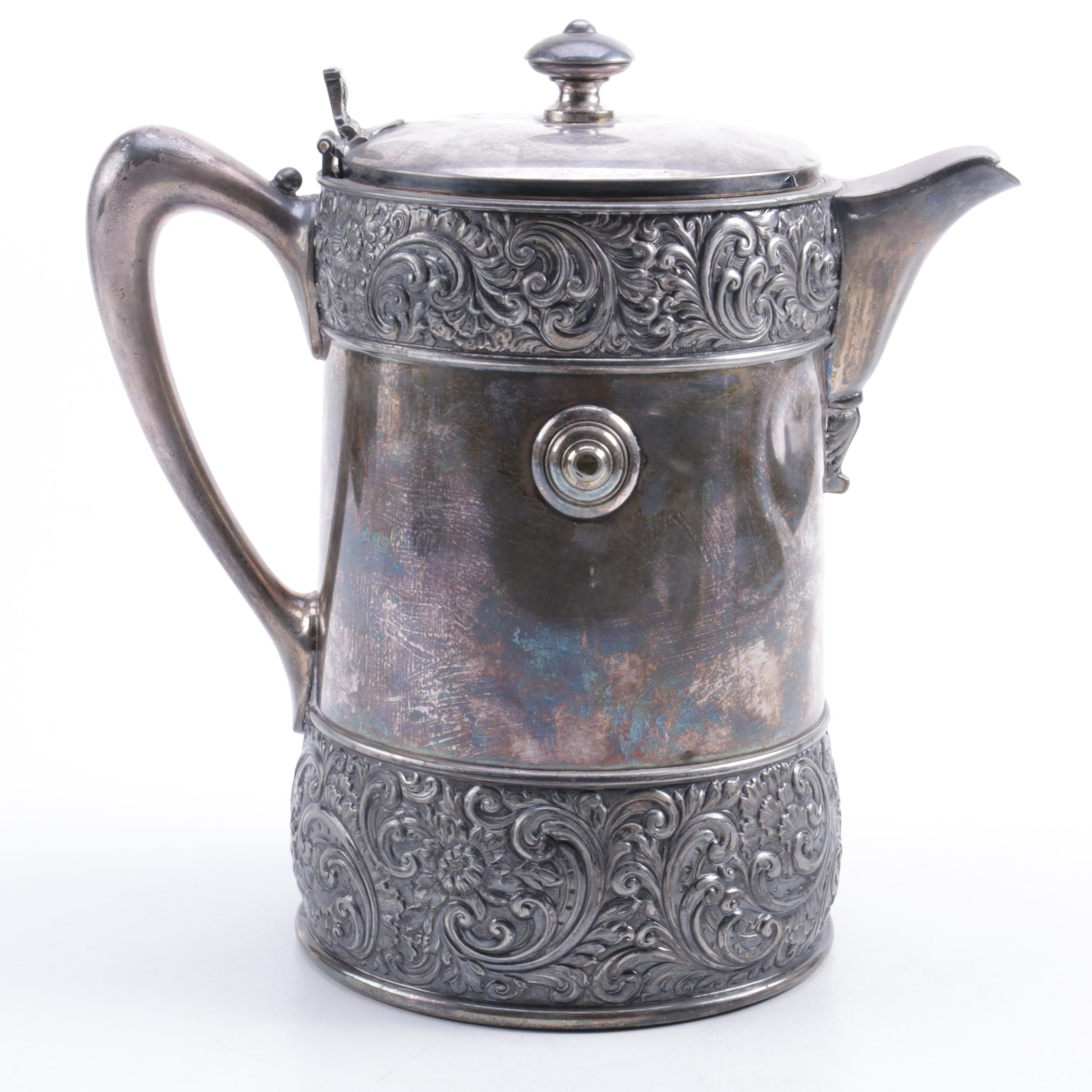 1868 Meriden Brittania Co. Silver Plate Ice Water Pitcher