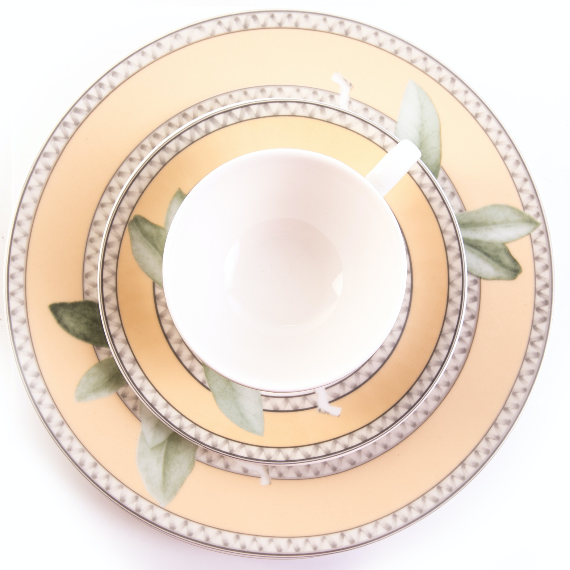 """222 FIFTH """"Chelsea"""" Dinner Plate, Cup, and Saucer"""
